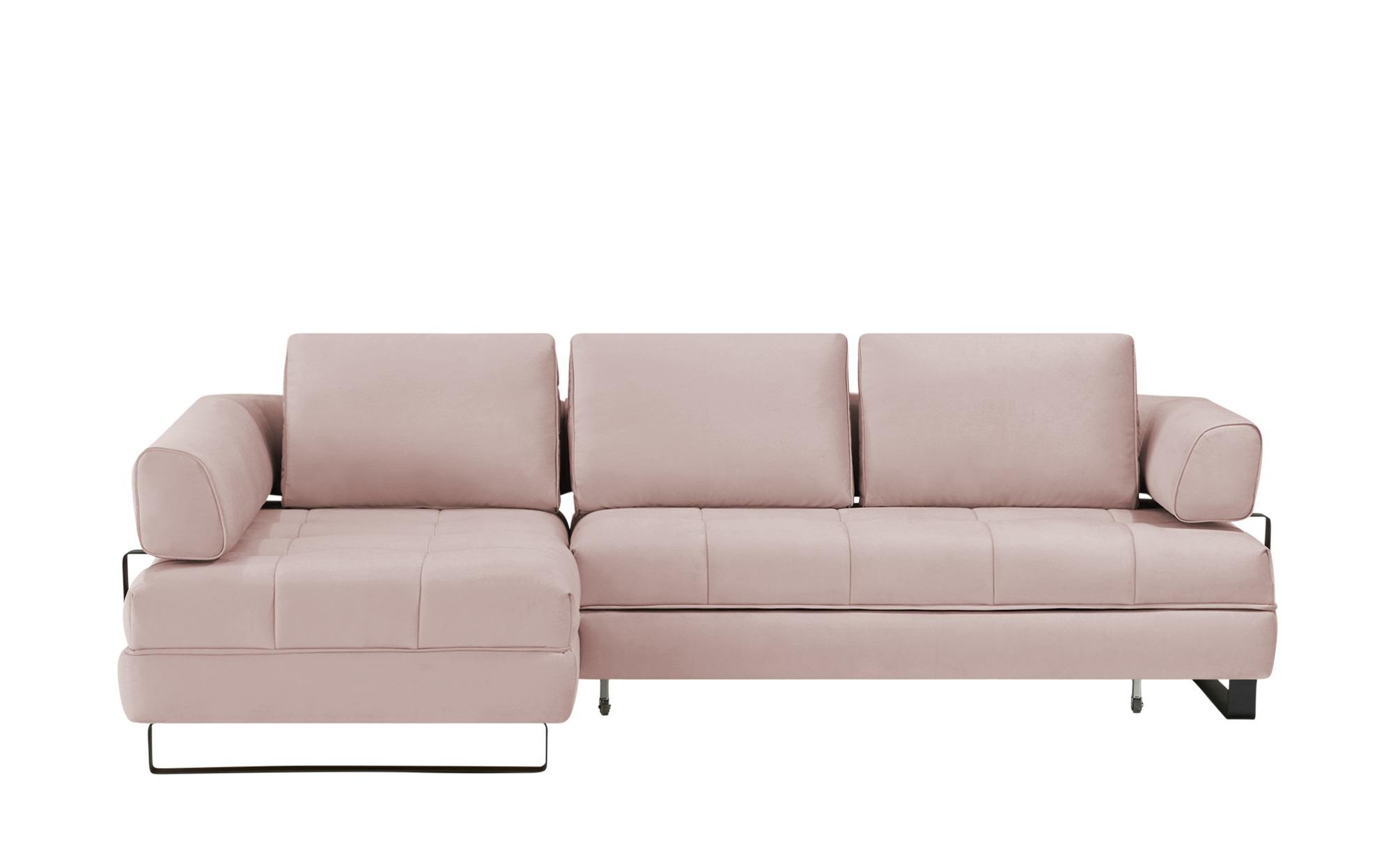 switch Ecksofa  Havana ¦ rosa/pink ¦ Maße (cm): B: 272 H: 89 T: 173 Polstermöbel > Sofas > Ecksofas - Höffner