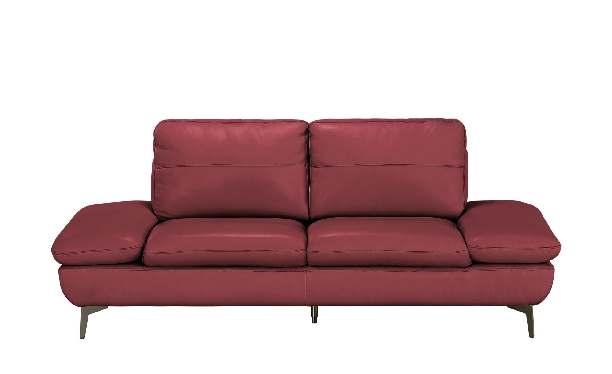Wohnwert Ledersofa  Amarena ¦ rot ¦ Maße (cm): B: 205 H: 84 T: 96 Polstermöbel > Sofas > 2-Sitzer - Höffner