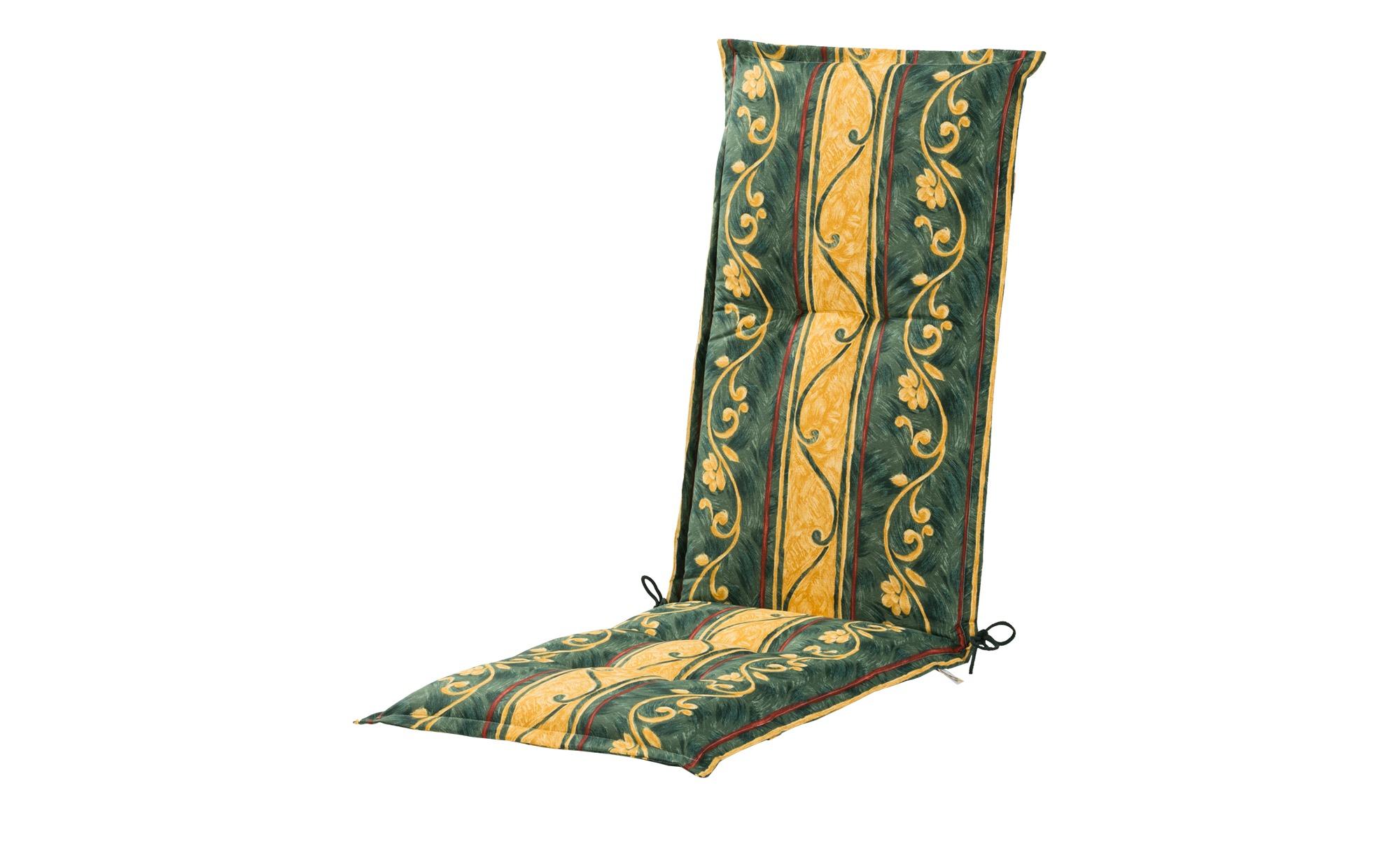 Relaxauflage  Sonate ¦ grün ¦ Druckstoff, 75% Baumwolle, 25% Polyester ¦ Maße (cm): B: 50 H: 8 Garten > Auflagen & Kissen > Sonstige Sitzkissen - Höffner