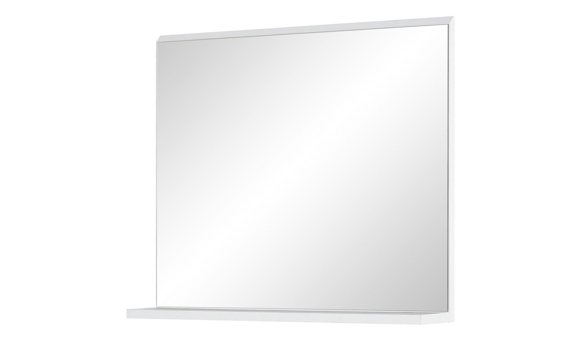 uno Bad-Wandspiegel  Melzer See ¦ weiß ¦ Maße (cm): B: 60 H: 50 T: 10 Dekoration > Spiegel - Höffner   Bad > Spiegel fürs Bad > Badspiegel   Weiß   Glas - Holzwerkstoff   Möbel Höffner DE