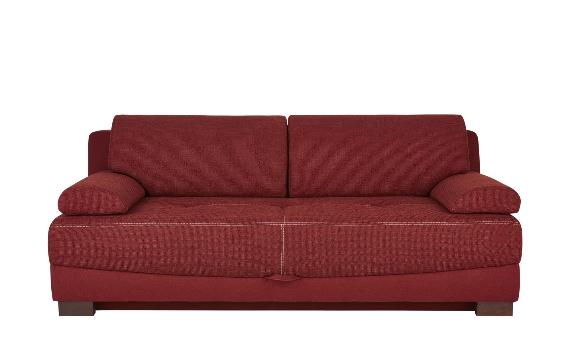 Schlafsofa rot-braun - Webstoff Gianna ¦ rot ¦ Maße (cm): B: 199 H: 85 T: 94 Polstermöbel > Sofas > 2-Sitzer - Höffner