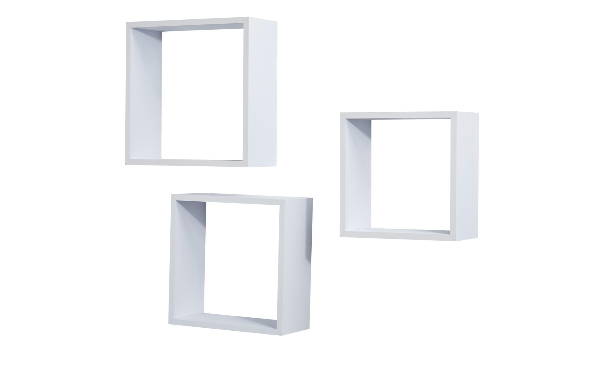 Wandregal 3er Set Weiss Cube Weiss Mobel Hoffner