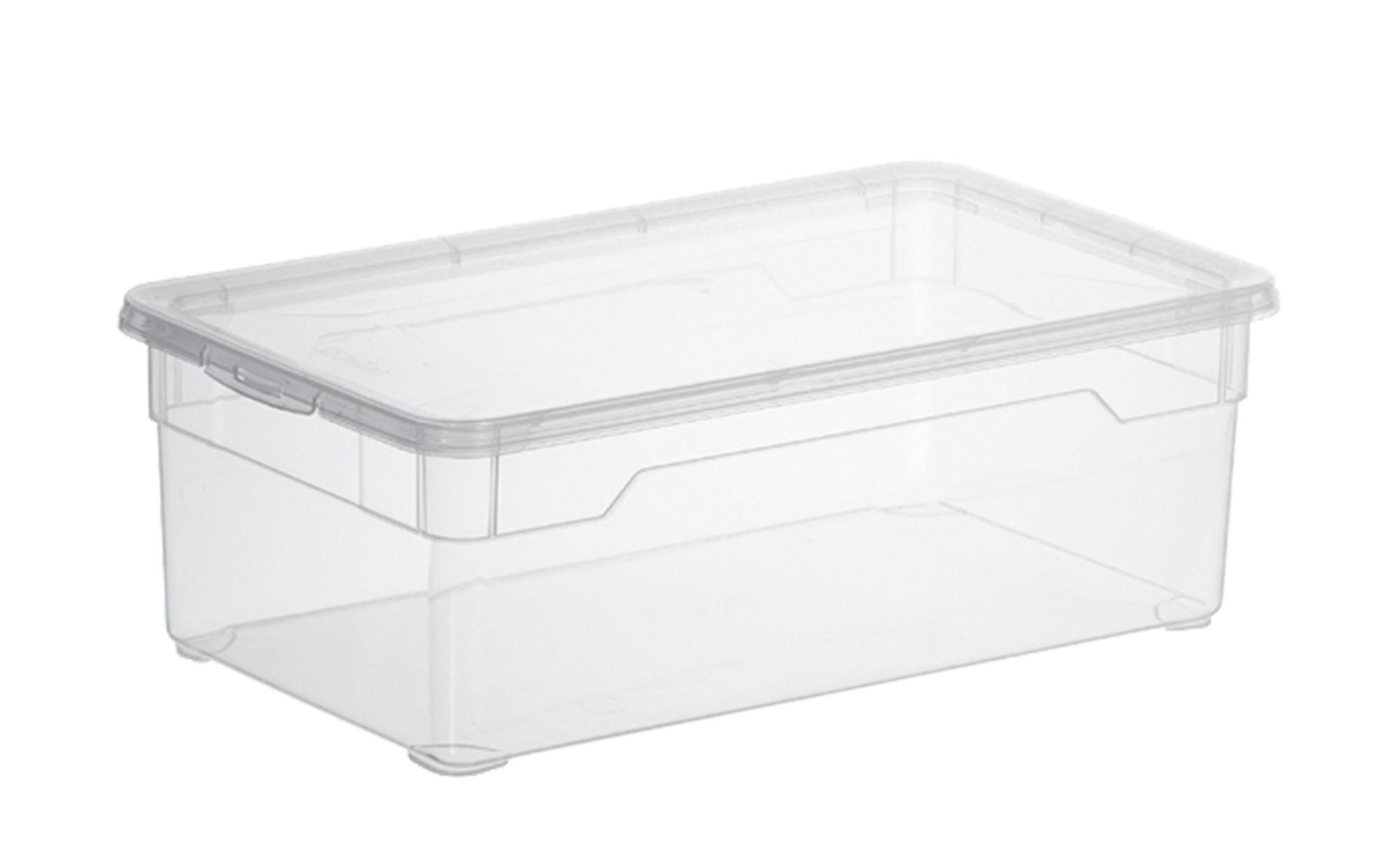 Rotho Aufbewahrungsbox mit Deckel ¦ transparent/klar ¦ Kunststoff ¦ Maße (cm): B: 19 H: 11 Regale > Regal-Aufbewahrungsboxen - Höffner
