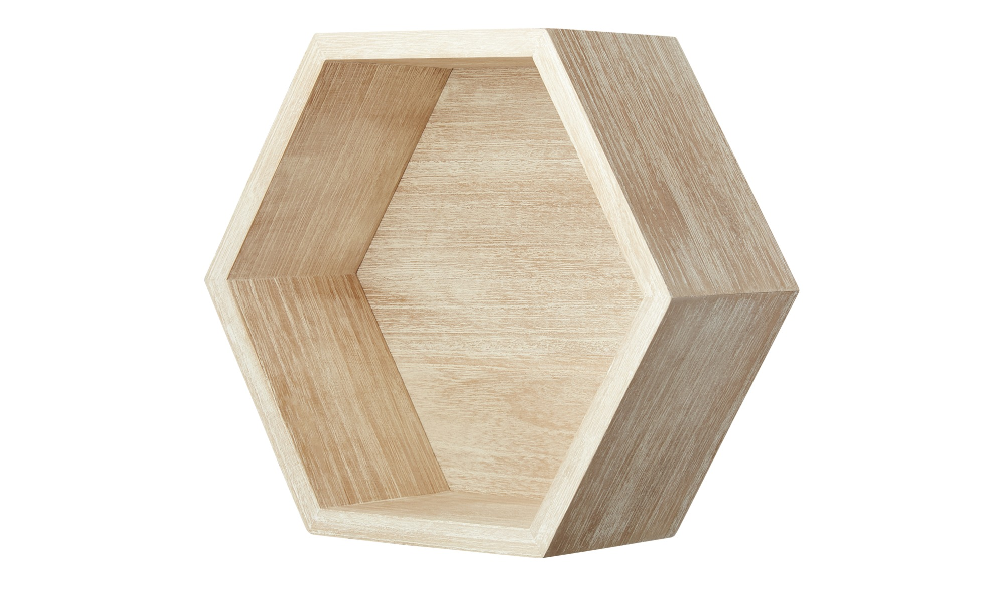 Wandregal Hexagon Paulownia Natur Mobel Hoffner