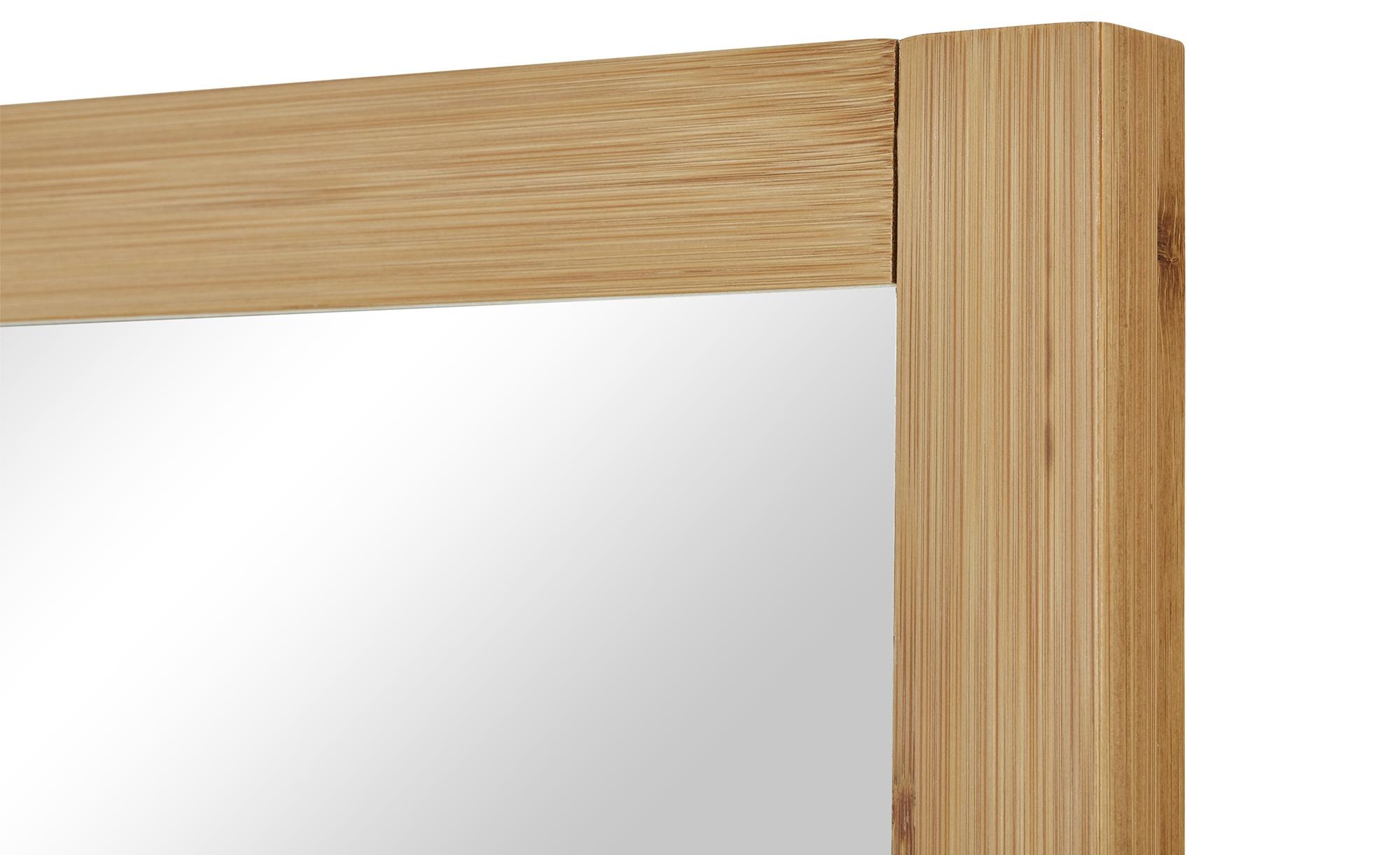 Spiegel mit Ablage  Clio ¦ holzfarben ¦ Maße (cm): B: 50 H: 70 T: 12 Badtextilien und Zubehör > Badaccessoires - Höffner   Flur & Diele > Spiegel > Wandspiegel   Holzfarben   Holzwerkstoff - Bambus - Massiv   Möbel Höffner DE
