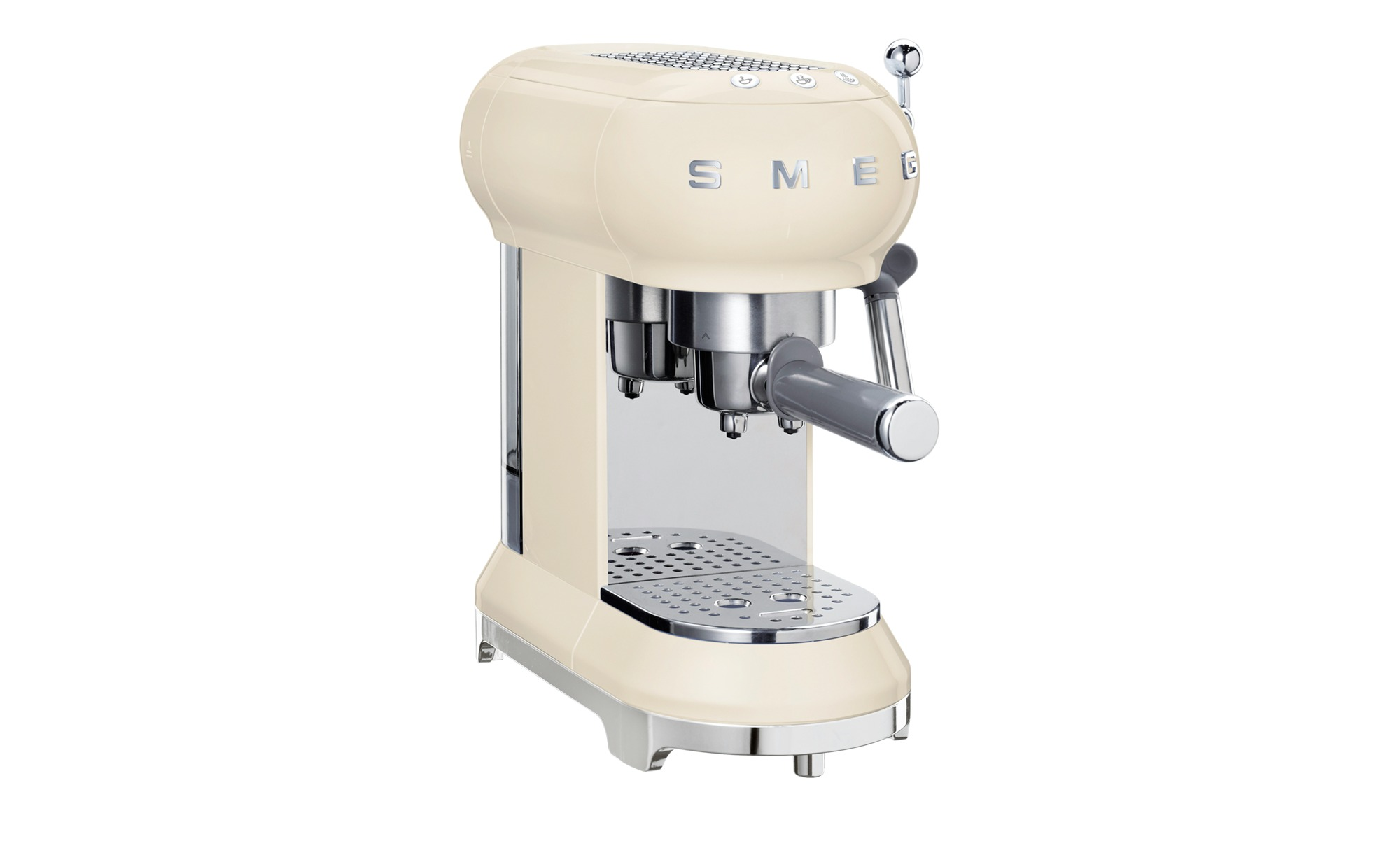 smeg Espresso-Maschine  ECF01CREU ¦ creme ¦ Metall| Edelstahl| Kunststoff ¦ Maße (cm): B: 14|9 H: 30|3 T: 33 Elektrokleingeräte > Kaffee & Espressomaschinen - Höffner | Küche und Esszimmer > Kaffee und Tee > Espressomaschinen | Möbel Höffner DE