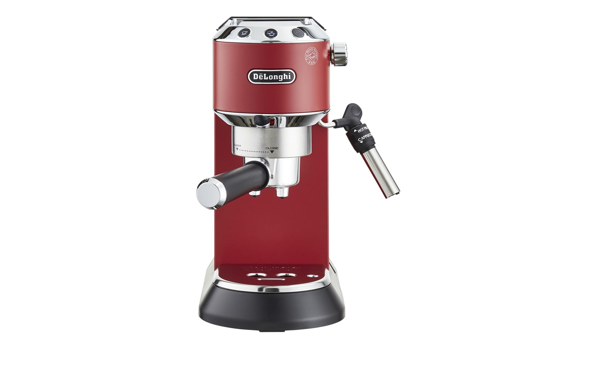 DeLonghi Espresso-Maschine  EC 685.R Dedica ¦ rot ¦ Kunststoff, Metall-lackiert, Metall ¦ Maße (cm): B: 14,9 H: 30,5 T: 33 Elektrokleingeräte > Kaffee & Espressomaschinen - Höffner | Küche und Esszimmer > Kaffee und Tee > Espressomaschinen | Rot | Metall | Möbel Höffner DE