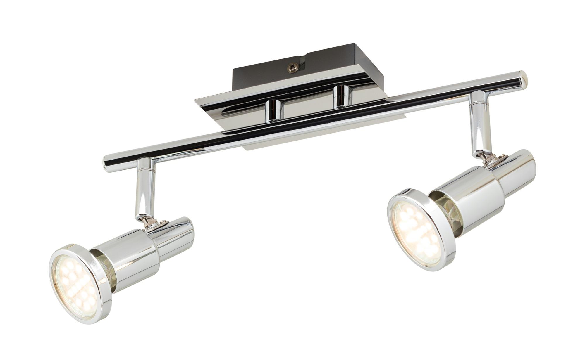 KHG LED-Deckenstrahler chrom 2 Spots ¦ silber ¦ Maße (cm): B: 8 T: 13 Lampen & Leuchten > LED-Leuchten > LED-Strahler & Spots - Höffner