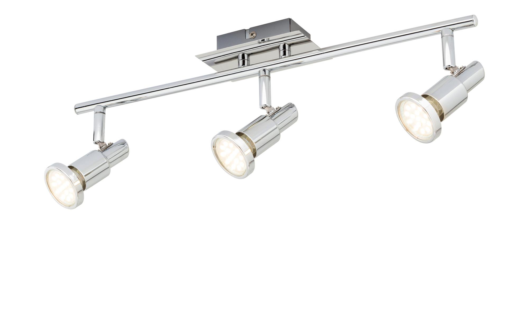 KHG LED-Deckenstrahler mit 3 schwenkbaren Spots ¦ silber ¦ Maße (cm): B: 8,5 H: 13 T: 13 Lampen & Leuchten > LED-Leuchten > LED-Strahler & Spots - Höffner