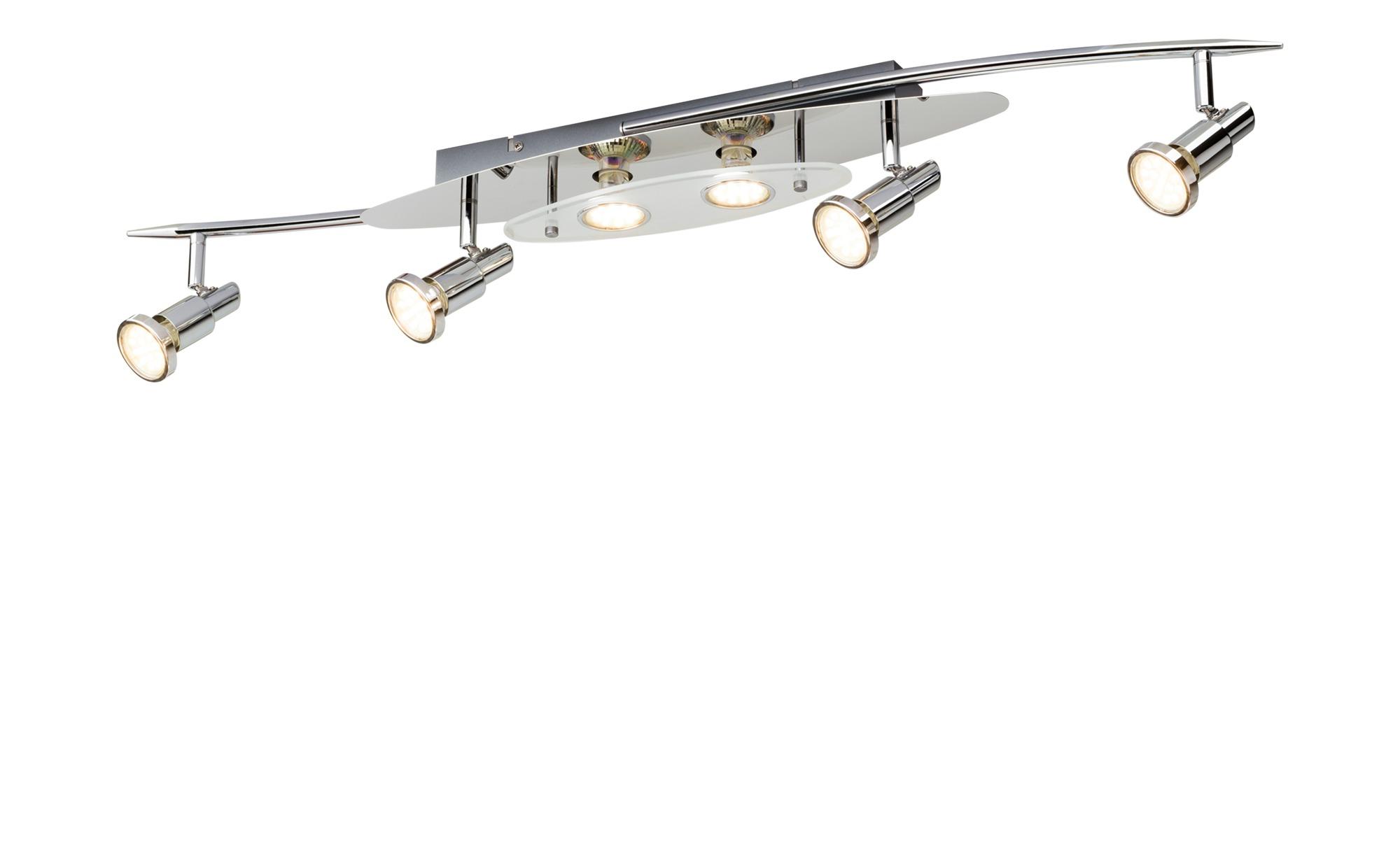 KHG LED-Deckenstrahler silber 6 Spots ¦ silber ¦ Maße (cm): B: 15 H: 14 Lampen & Leuchten > LED-Leuchten > LED-Strahler & Spots - Höffner