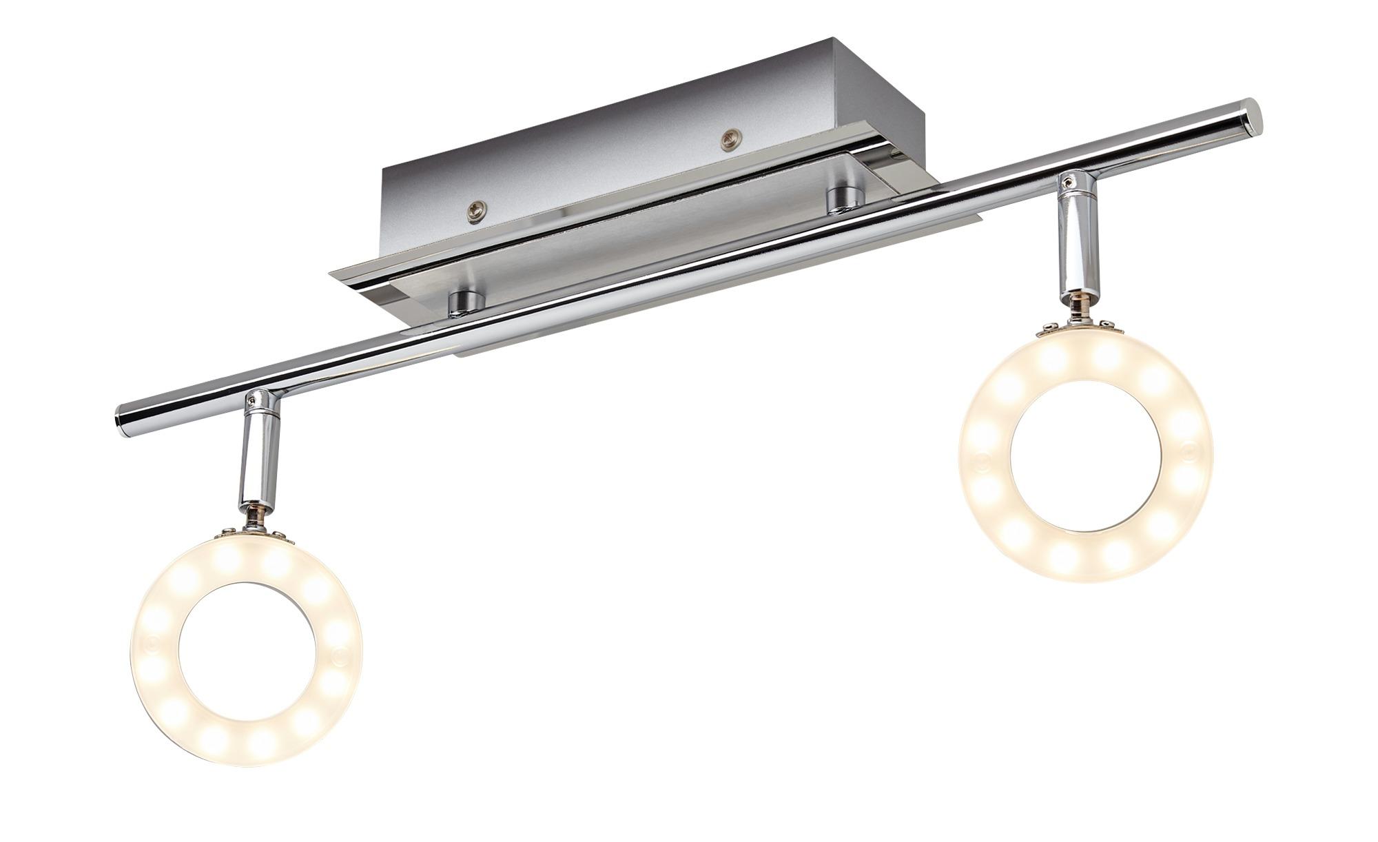 Paul Neuhaus LED- Deckenstrahler, 2-flammig, IP44 ¦ silber ¦ Maße (cm): B: 55 Lampen & Leuchten > Innenleuchten > Deckenleuchten - Höffner