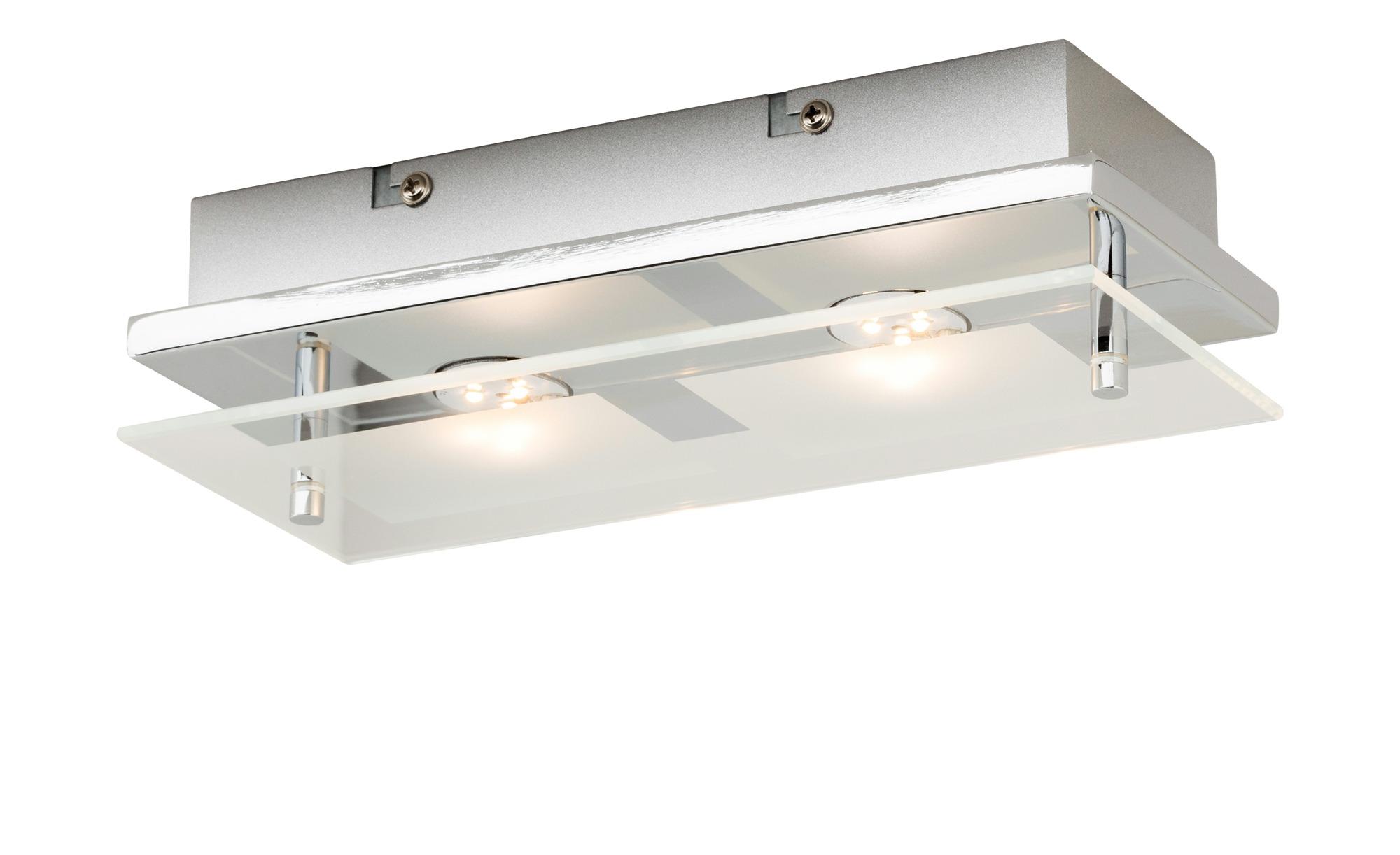Paul Neuhaus LED Deckenleuchte rechteckig 2 Spots ¦ silber ¦ Maße (cm): B: 24 Lampen & Leuchten > Innenleuchten > Deckenleuchten - Höffner