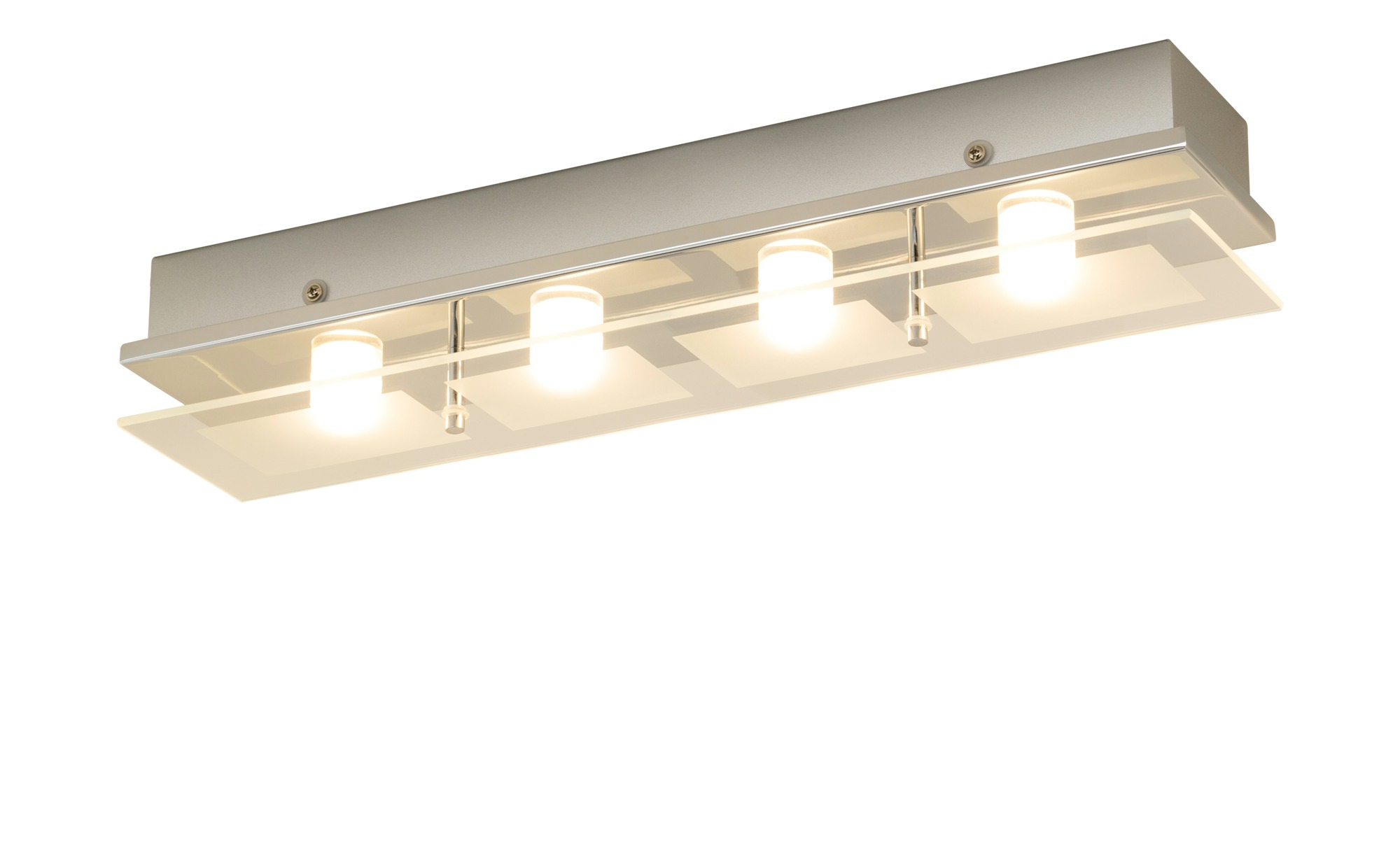 Paul Neuhaus LED Deckenleuchte rechteckig 4 Spots ¦ silber ¦ Maße (cm): B: 48 Lampen & Leuchten > Innenleuchten > Deckenleuchten - Höffner