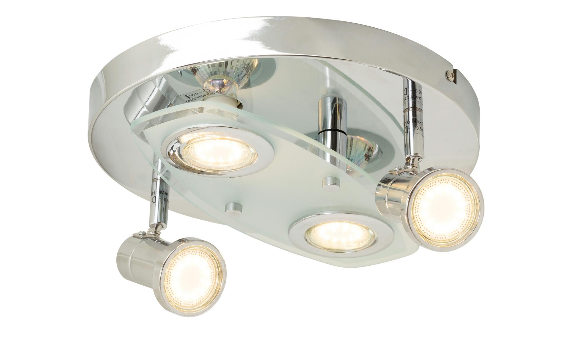 KHG LED Deckenstrahler teilweise beweglich ¦ silber ¦ Maße (cm): H: 12 Ø: 27 Lampen & Leuchten > Innenleuchten > Deckenleuchten - Höffner