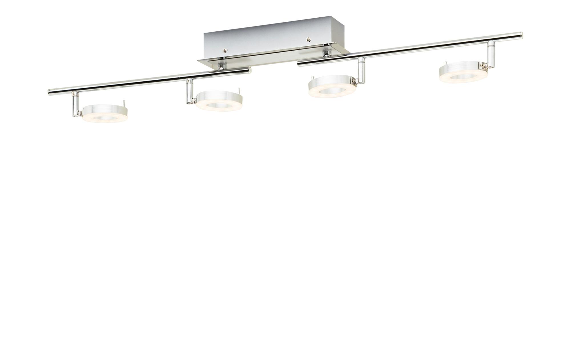 Paul Neuhaus LED-Deckenstrahler mit 4 ringförmigen Spots ¦ silber ¦ Maße (cm): B: 85,5 Lampen & Leuchten > LED-Leuchten > LED-Strahler & Spots - Höffner
