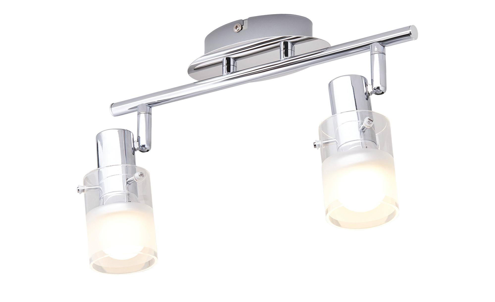 KHG LED-Deckenstrahler, 2-flammig Glas teilsatiniert ¦ Maße (cm): B: 8 H: 12 Lampen & Leuchten > LED-Leuchten > LED-Strahler & Spots - Höffner