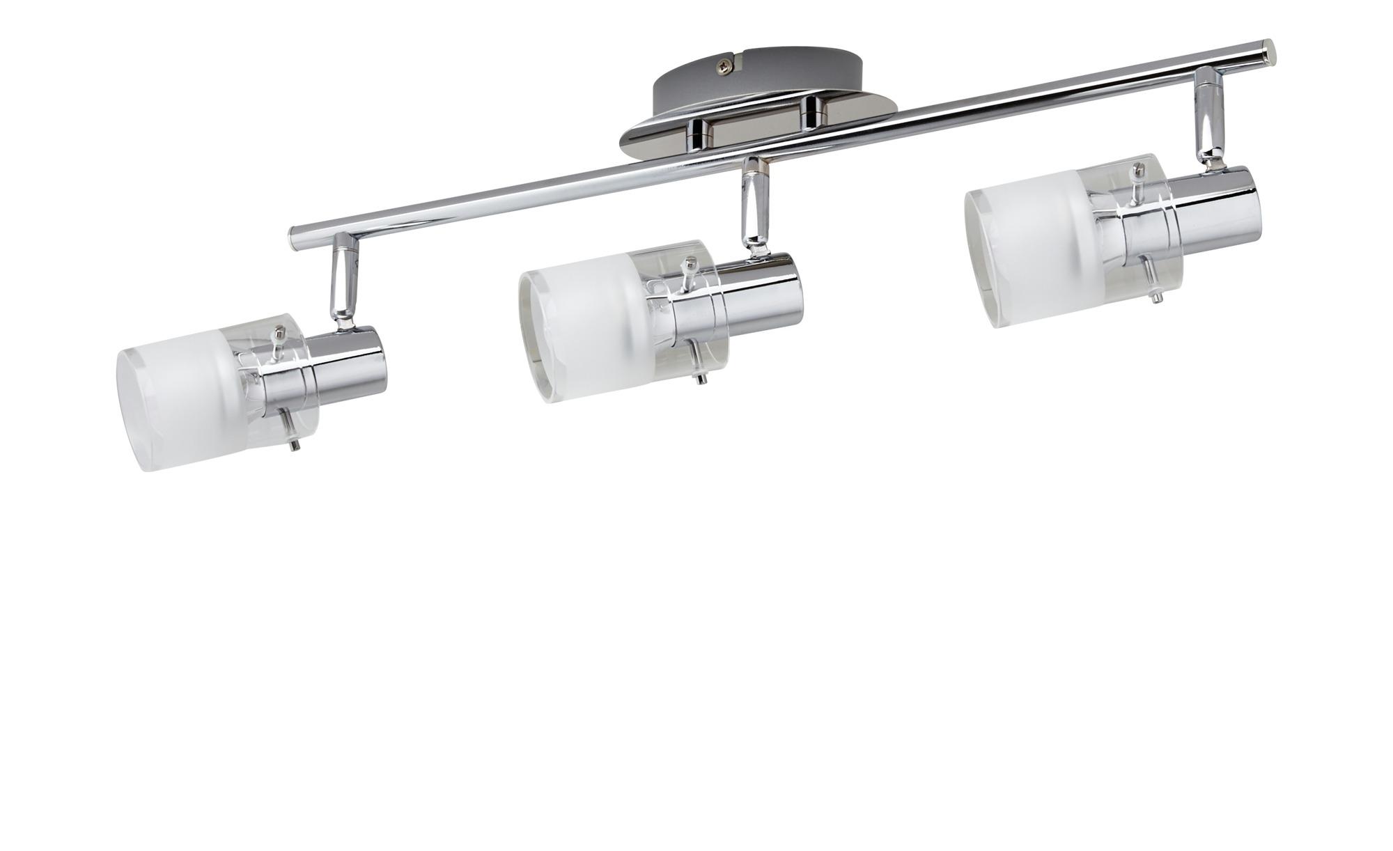 KHG LED- Deckenstrahler, 3-flammig mit Glas ¦ silber ¦ Maße (cm): B: 8 H: 12 Lampen & Leuchten > LED-Leuchten > LED-Strahler & Spots - Höffner