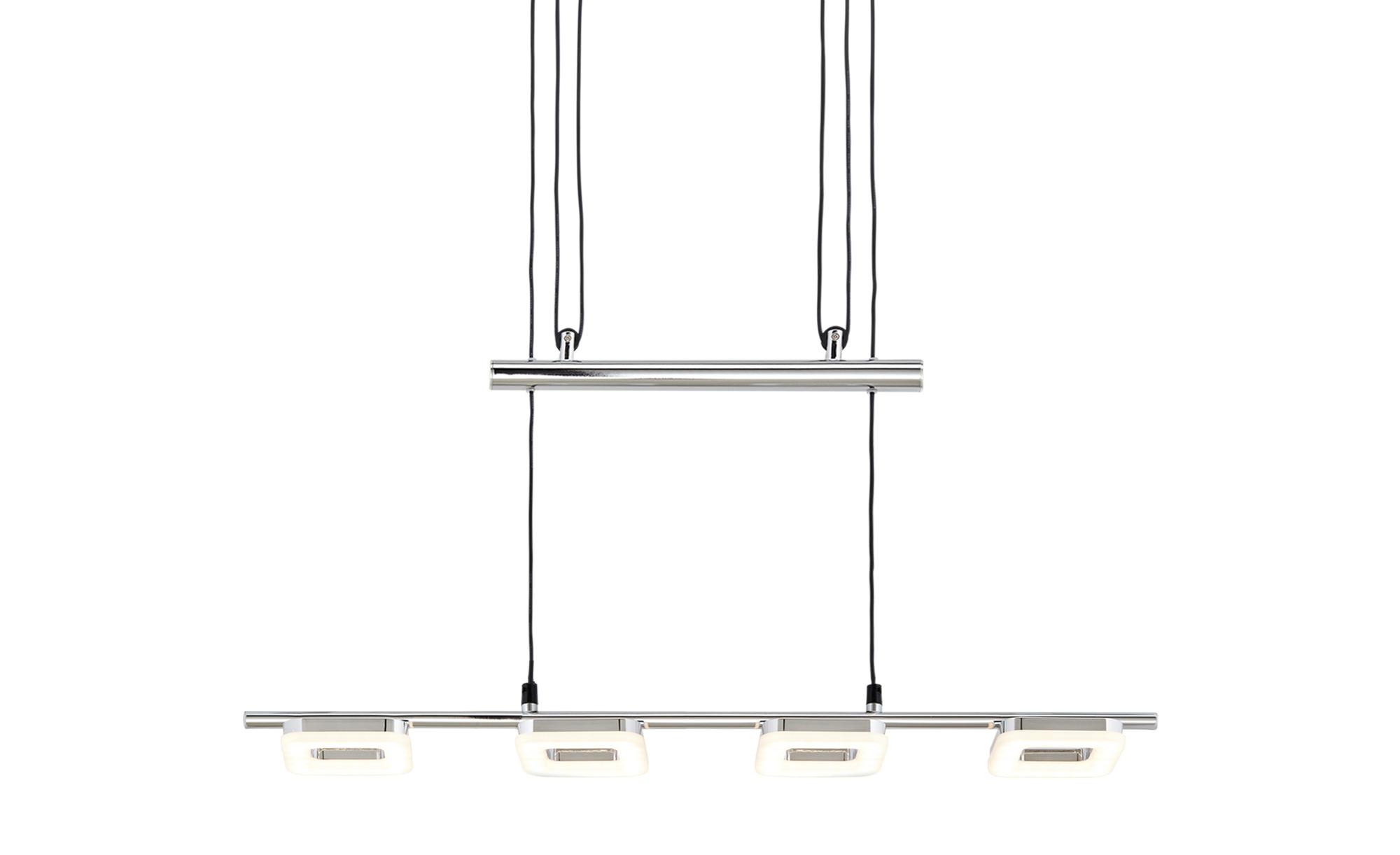 KHG LED-Pendelleuchte, 4-flammig, chrom ¦ silber ¦ Maße (cm): B: 10,3 H: 176 T: 10 Lampen & Leuchten > LED-Leuchten > LED-Pendelleuchten - Höffner