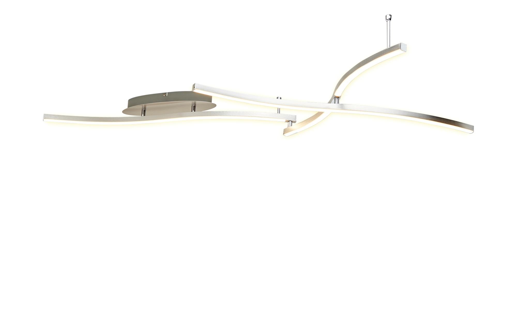 KHG LED-Deckenleuchte, 3-flammig, verstellbar ¦ silber ¦ Maße (cm): B: 76 H: 16 Lampen & Leuchten > Innenleuchten > Deckenleuchten - Höffner