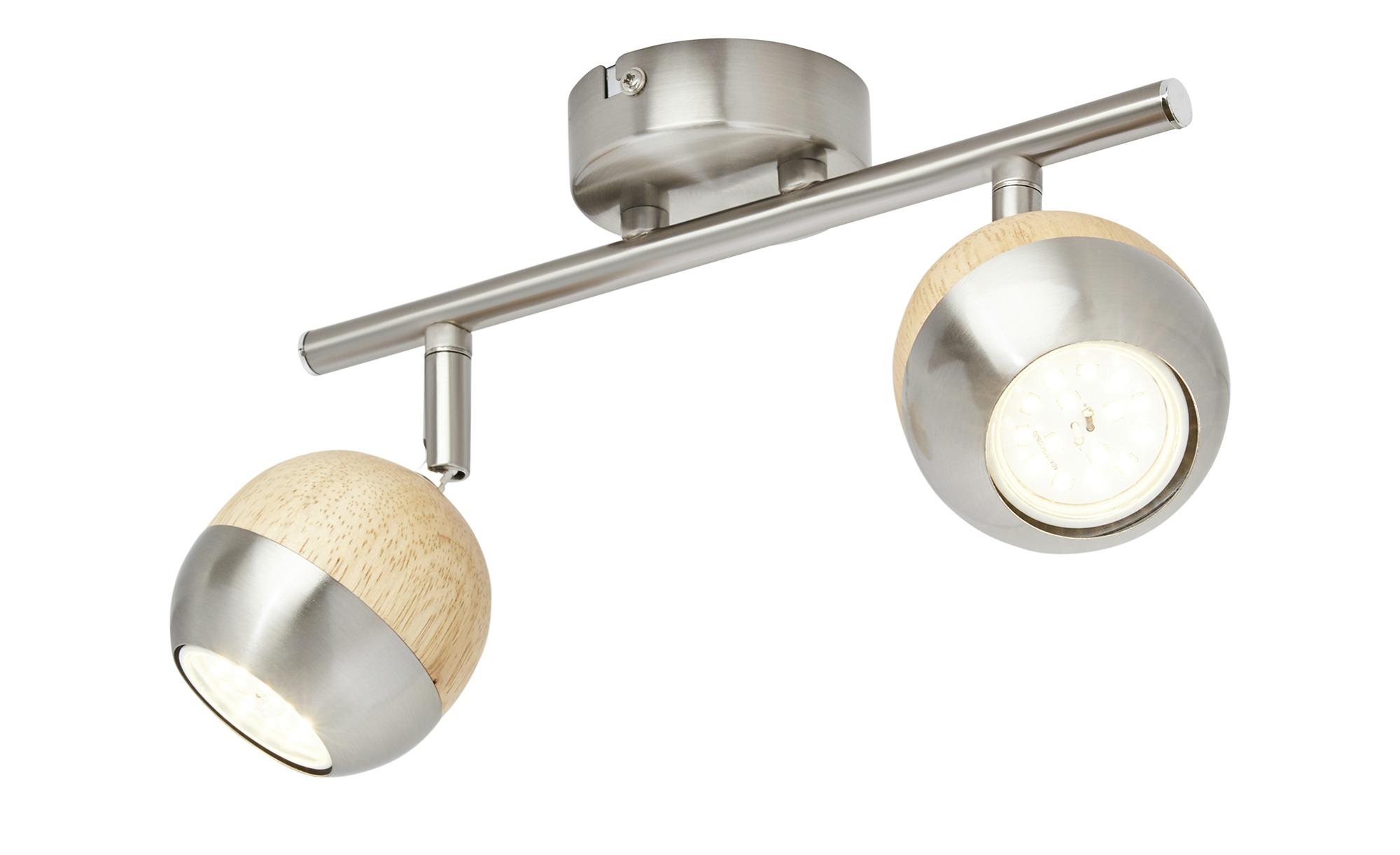 KHG LED-Spot, 2-flammig mit Holz ¦ braun ¦ Maße (cm): B: 8 H: 14 Lampen & Leuchten > LED-Leuchten > LED-Strahler & Spots - Höffner