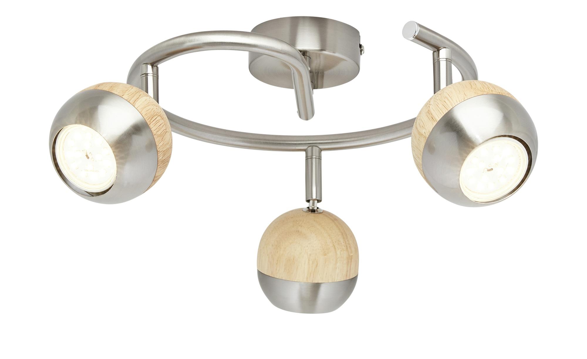KHG LED-Spot, 3-flammig mit Holz ¦ braun ¦ Maße (cm): B: 8 H: 14 Ø: [25.0] Lampen & Leuchten > LED-Leuchten > LED-Strahler & Spots - Höffner