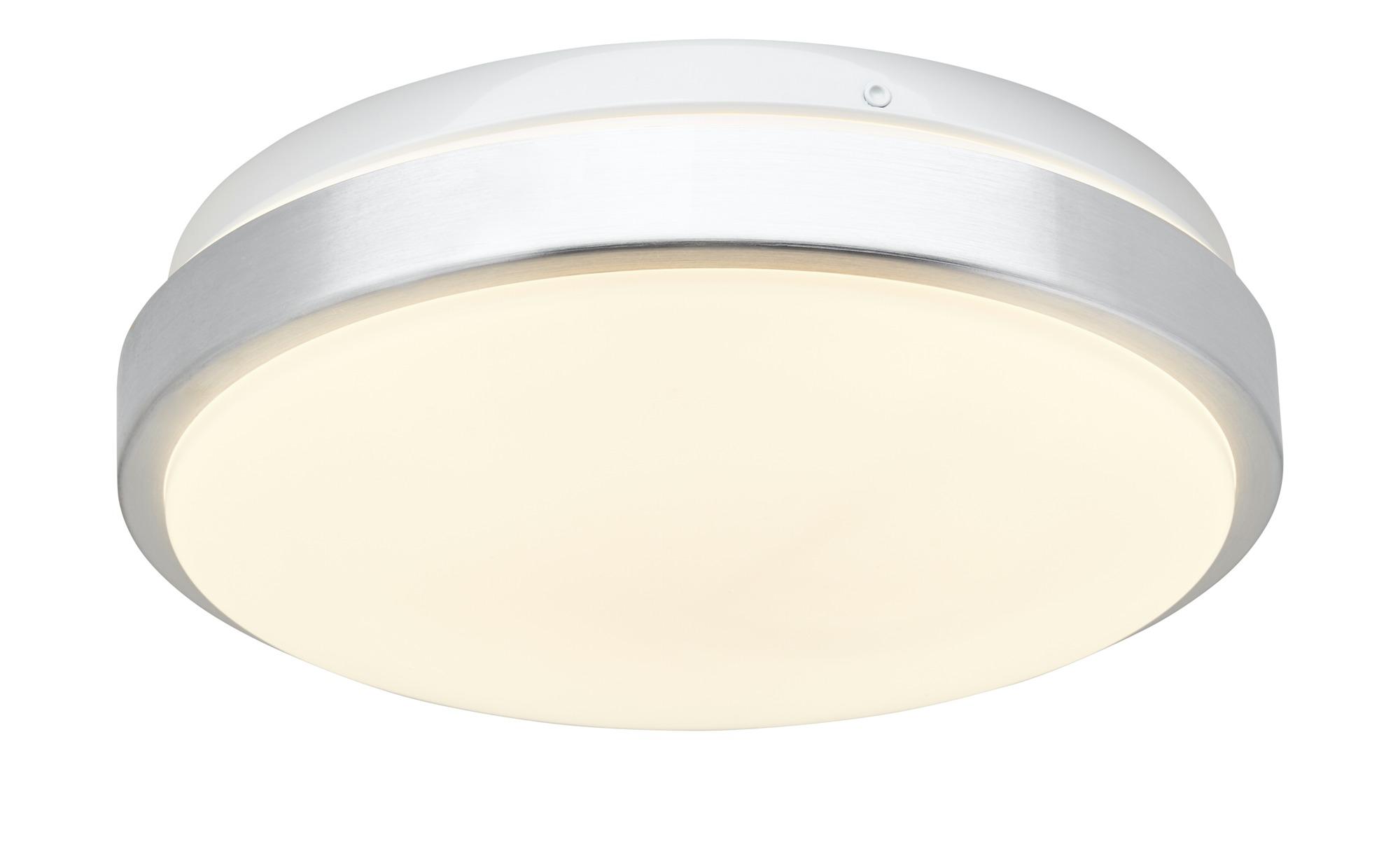 KHG LED-Deckenleuchte, 1-flammig ¦ silber ¦ Maße (cm): H: 7,5 Ø: 25 Lampen & Leuchten > Innenleuchten > Deckenleuchten - Höffner