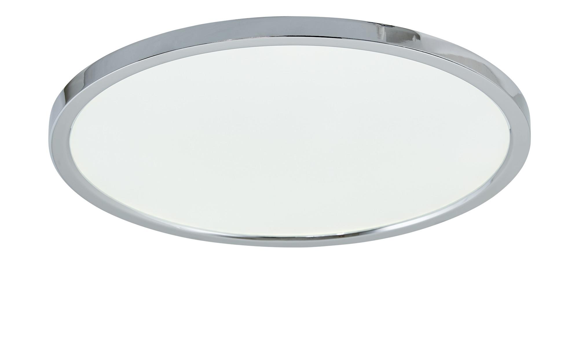 Paul Neuhaus LED-Deckenleuchte, rund IP44 ¦ silber ¦ Maße (cm): H: 5,6 Ø: [45.0] Lampen & Leuchten > Innenleuchten > Deckenleuchten - Höffner