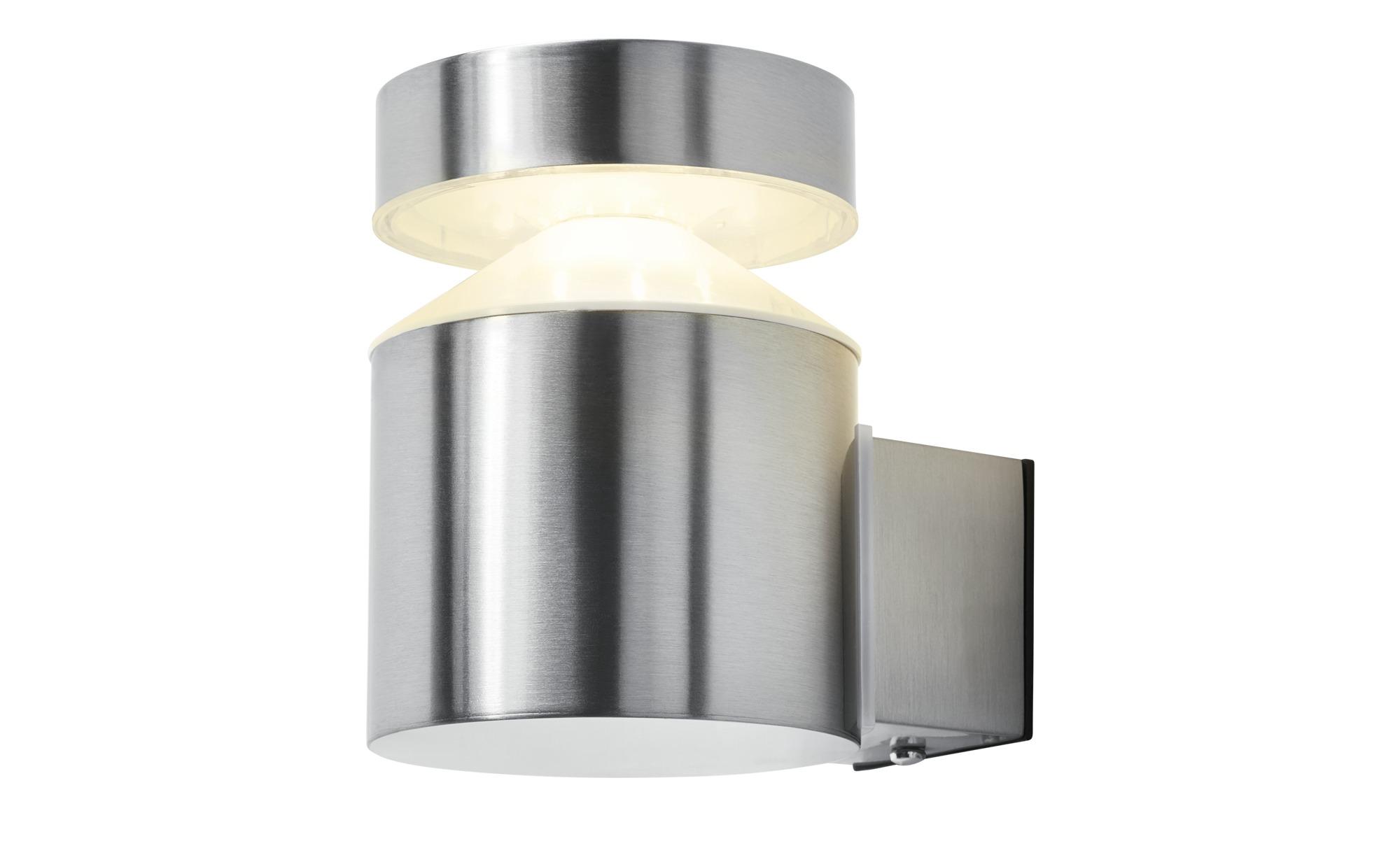 OSRAM LED-Außenwandleuchte, 1-flammig, Edelstahl ¦ silber ¦ Maße (cm): B: 13,5 H: 13,8 T: 10,2 Lampen & Leuchten > Außenleuchten - Höffner