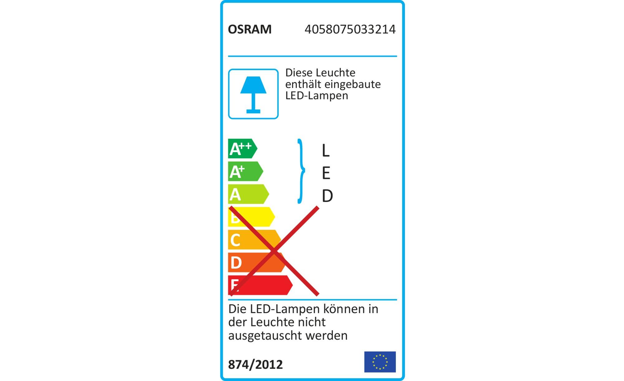 OSRAM LED-Außenwandleuchte, Weiß ¦ weiß ¦ Maße (cm): B: 27,3 H: 16,8 T: 10 Lampen & Leuchten > Außenleuchten - Höffner