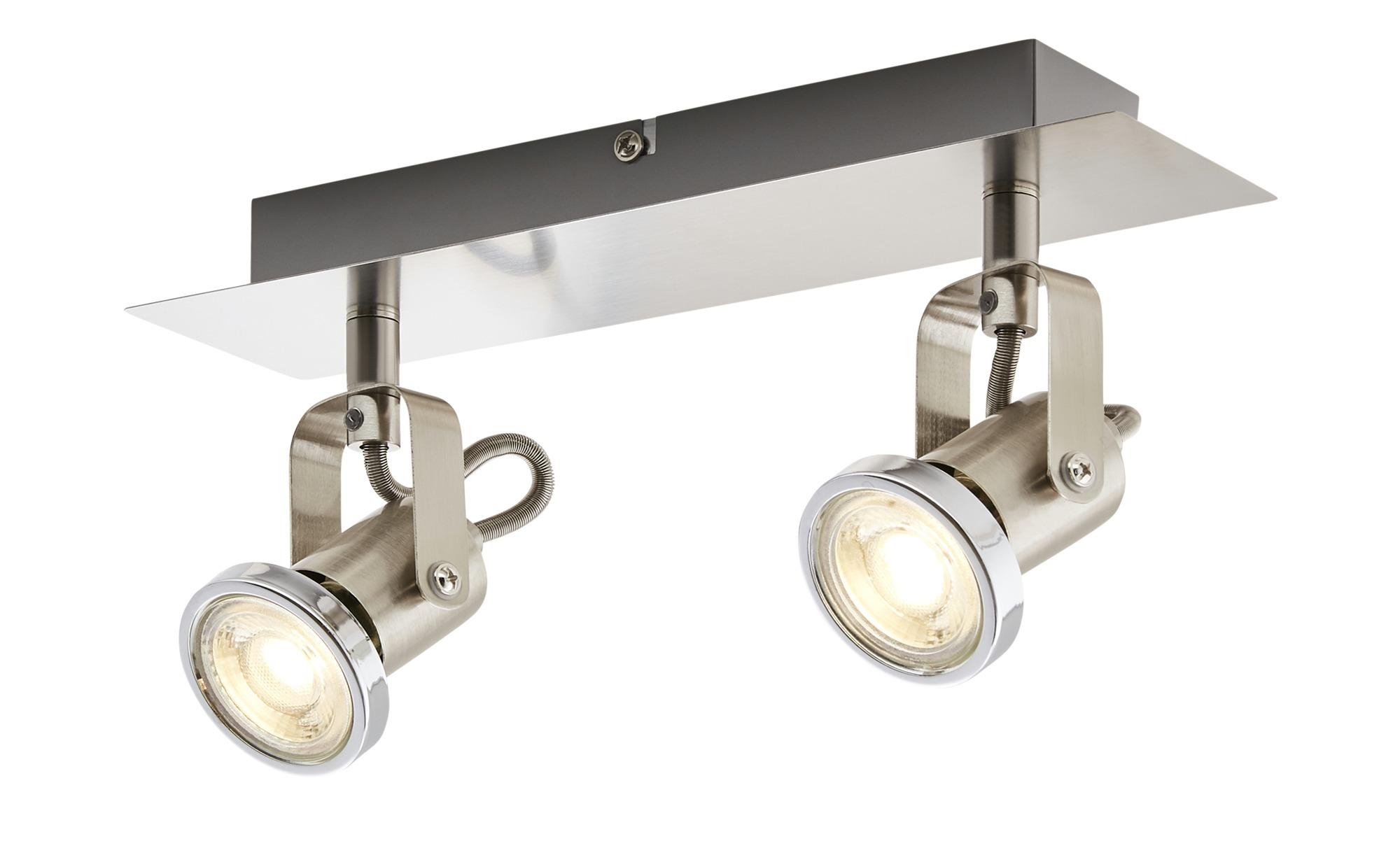 KHG Spot, 2-flammig, Nickel matt ¦ silber ¦ Maße (cm): B: 7 H: 12 Lampen & Leuchten > LED-Leuchten > LED-Strahler & Spots - Höffner