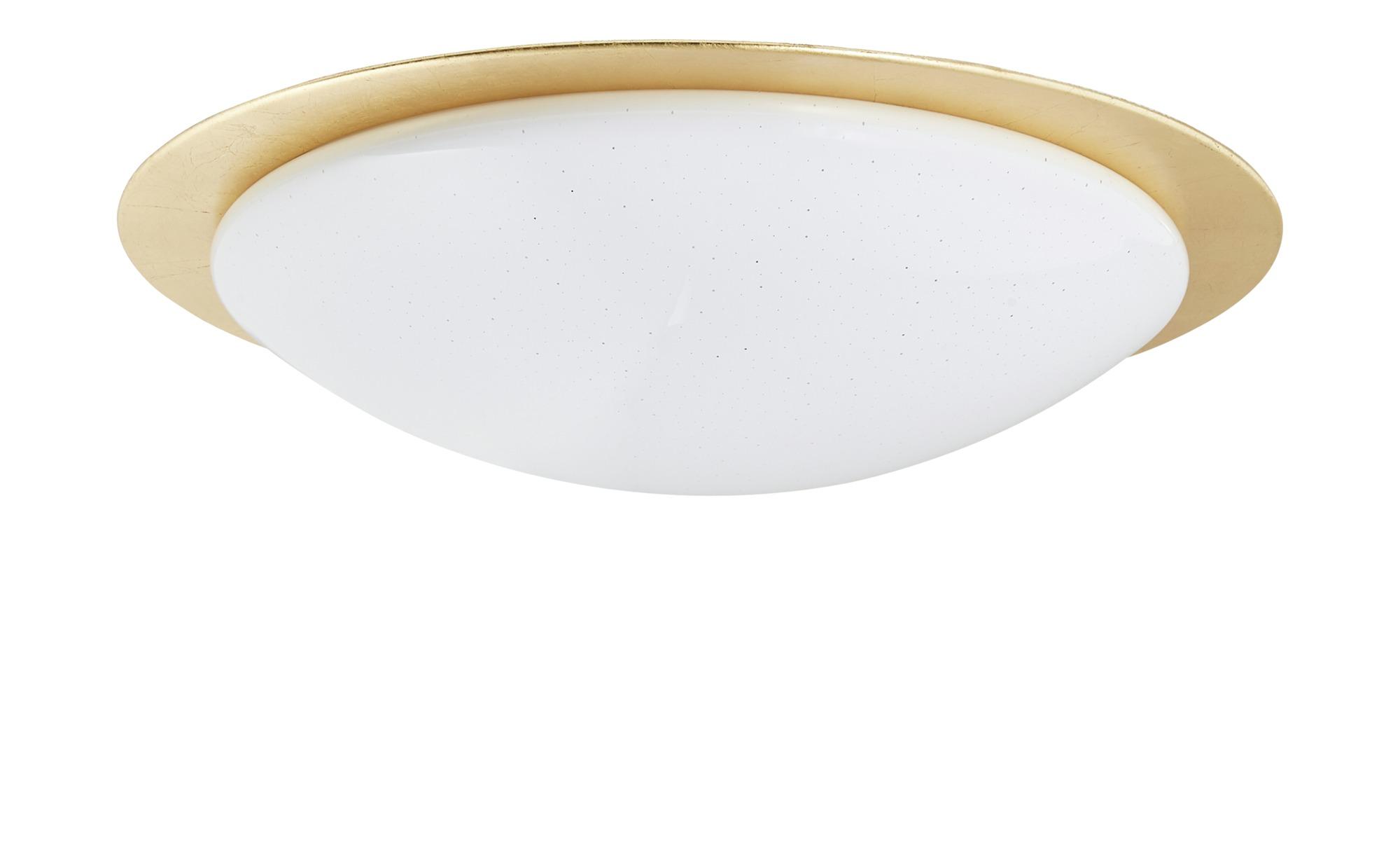 KHG LED-Deckenleuchte, 1-flammig, Goldrand ¦ gold ¦ Maße (cm): H: 13,5 Ø: 59 Lampen & Leuchten > Innenleuchten > Deckenleuchten - Höffner