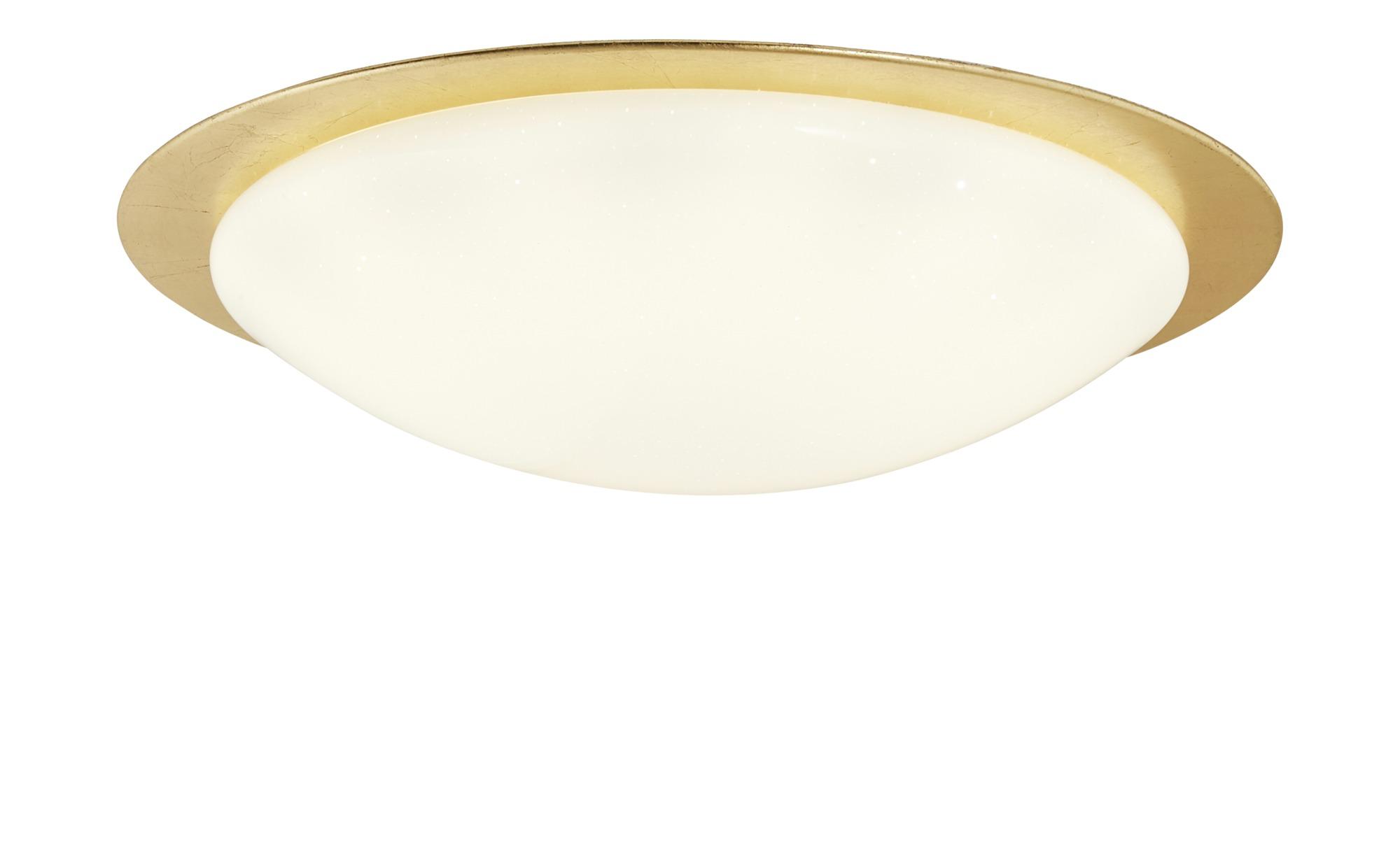 KHG LED-Deckenleuchte, 1-flammig, goldfarben ¦ gold ¦ Maße (cm): H: 12 Ø: [42.5] Lampen & Leuchten > Innenleuchten > Deckenleuchten - Höffner