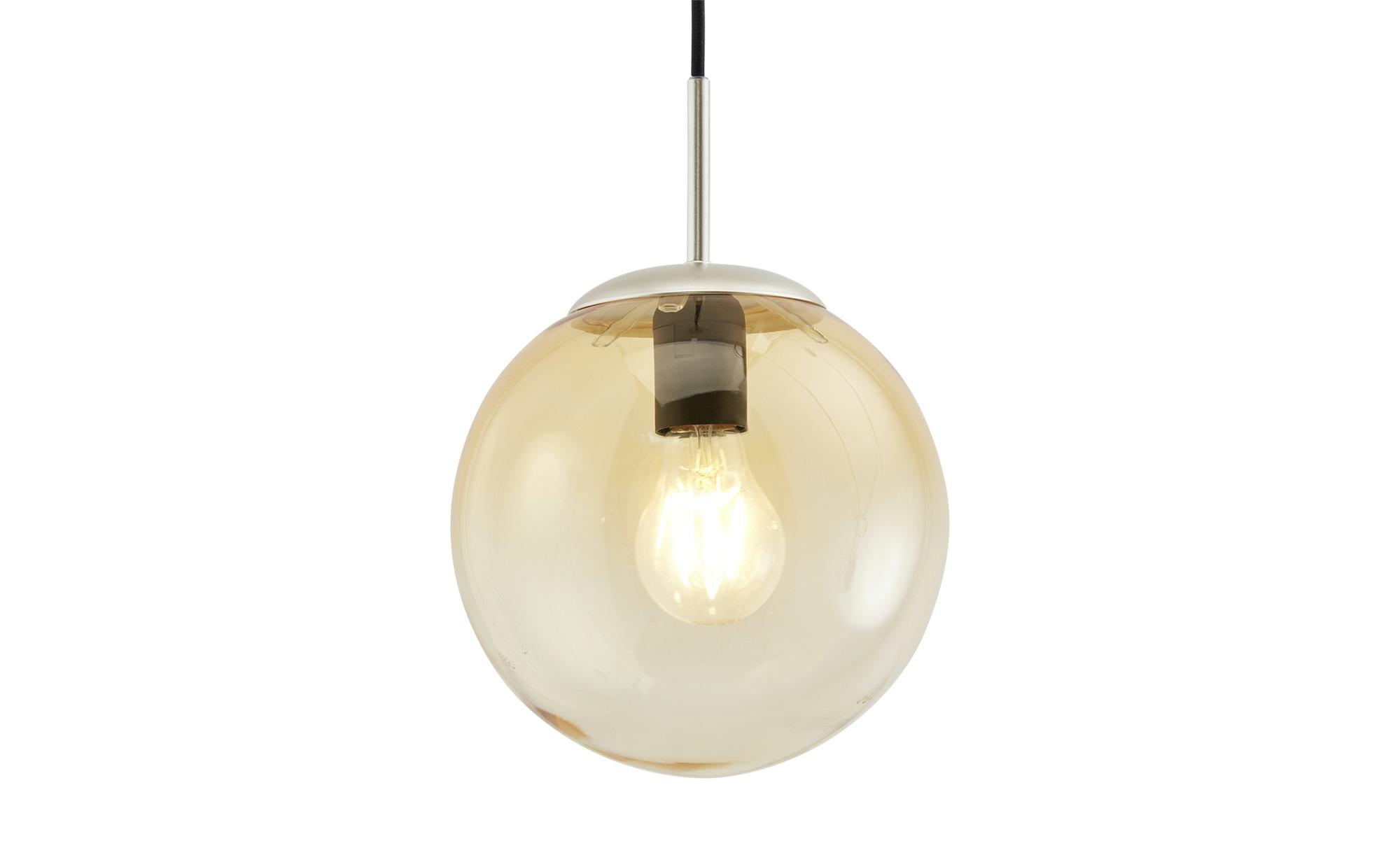 Glaspendelleuchte, 1-flammig, Glas amberfarben ¦ silberØ: [20.0] Lampen & Leuchten > Innenleuchten > Pendelleuchten - Höffner