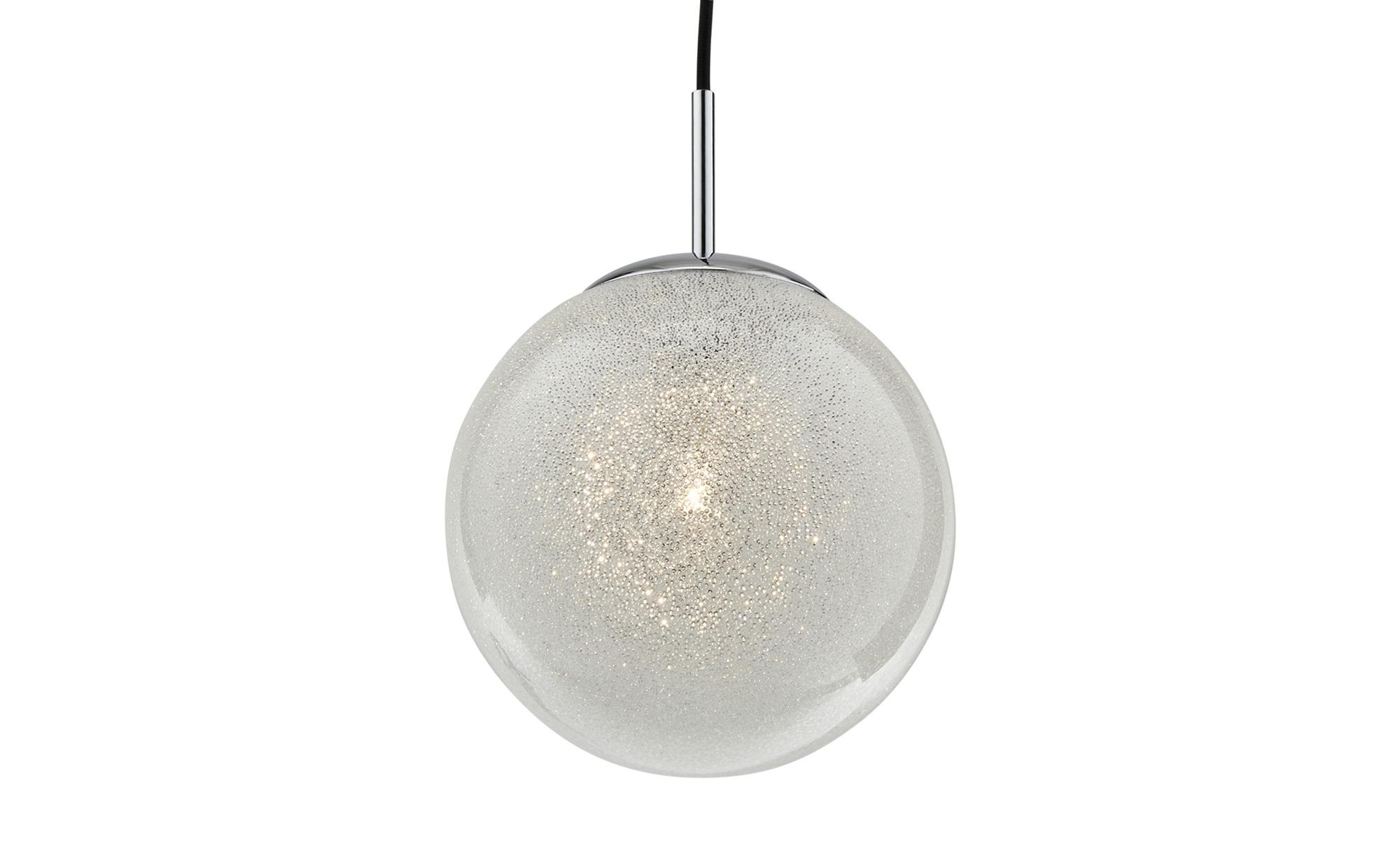 Glaspendelleuchte, 1-flammig, Glas in Kristalloptik ¦ silberØ: [20.0] Lampen & Leuchten > Innenleuchten > Pendelleuchten - Höffner