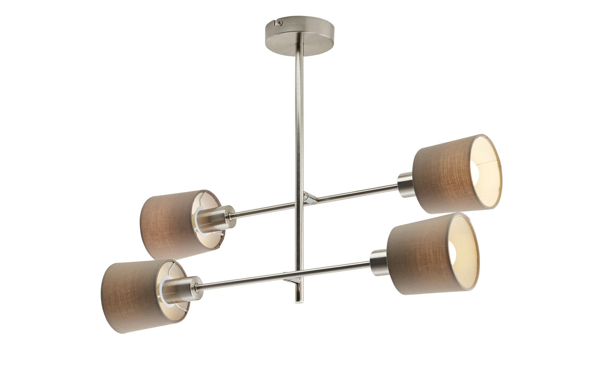 Deckenleuchte, 4-flammig ¦ silber ¦ Maße (cm): H: 41,5 Lampen & Leuchten > Innenleuchten > Deckenleuchten - Höffner
