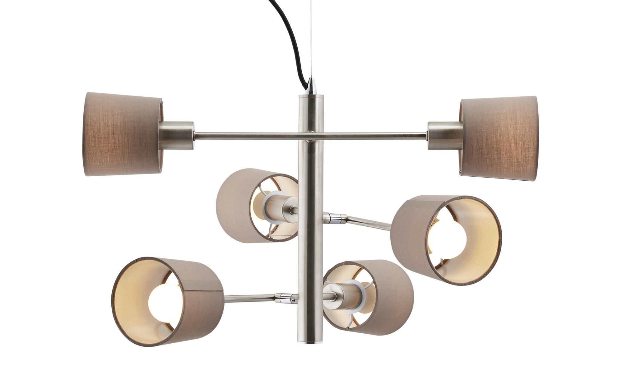 Pendelleuchte, 6-flammig ¦ silber ¦ Maße (cm): B: 57 H: 120 Lampen & Leuchten > LED-Leuchten > LED-Pendelleuchten - Höffner
