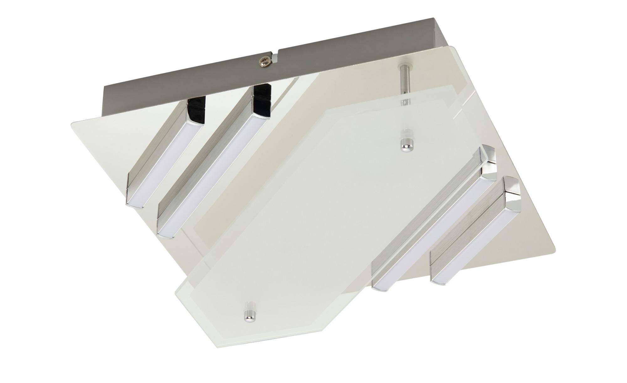KHG LED-Deckenleuchte, 2+4 flammig, chrom ¦ silber ¦ Maße (cm): B: 25 H: 8 Lampen & Leuchten > Innenleuchten > Deckenleuchten - Höffner