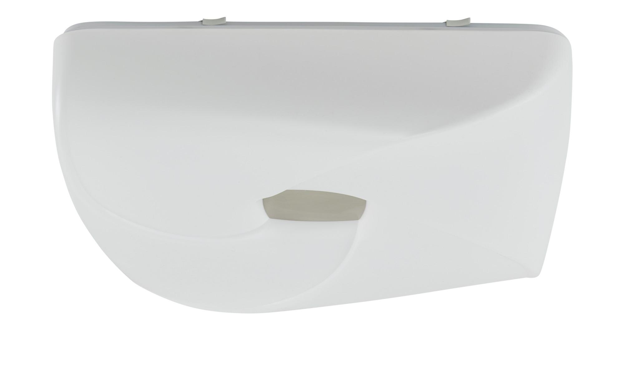 KHG LED-Deckenleuchte weiß/nickel ´groß´ ¦ weiß ¦ Maße (cm): B: 60 H: 36 Lampen & Leuchten > Innenleuchten > Deckenleuchten - Höffner