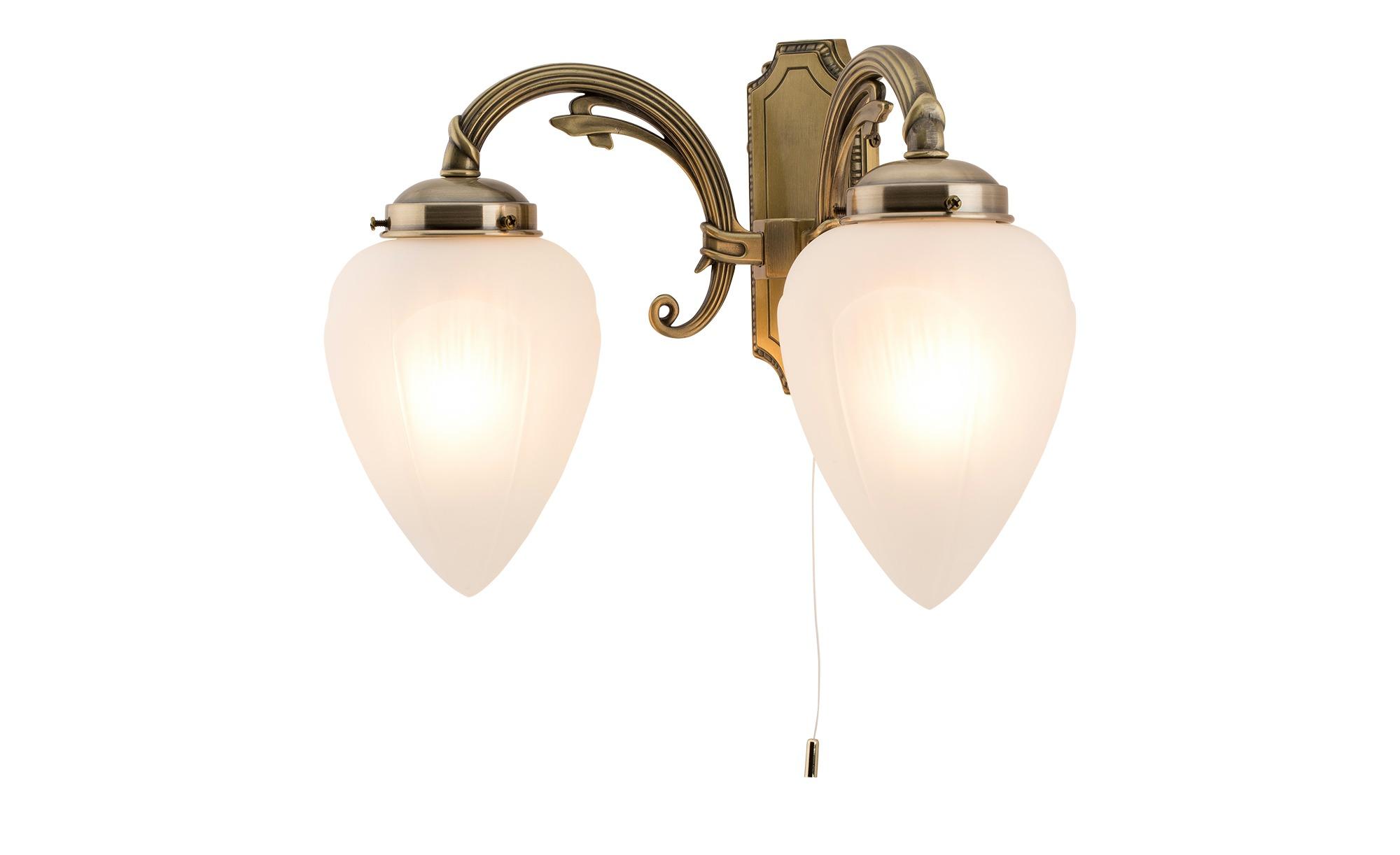 KHG Wandleuchte ¦ gold ¦ Maße (cm): B: 19 H: 29 T: 29 Lampen & Leuchten > Innenleuchten > Wandleuchten - Höffner