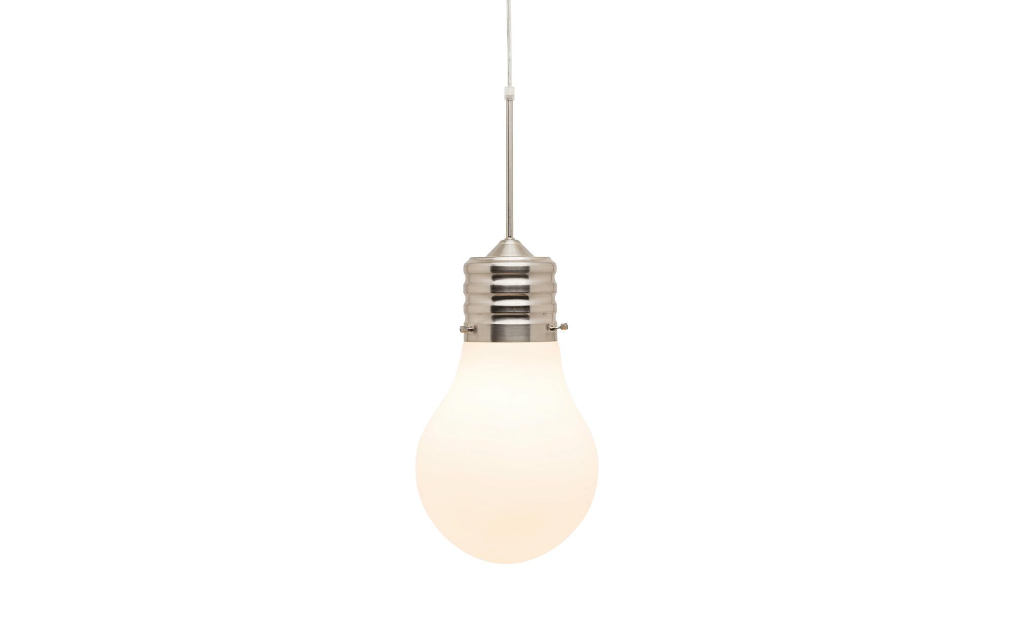 Pendelleuchte 1-flammig im Glühlampen-Design ¦ silberØ: [25.0] Lampen & Leuchten > Innenleuchten > Pendelleuchten - Höffner