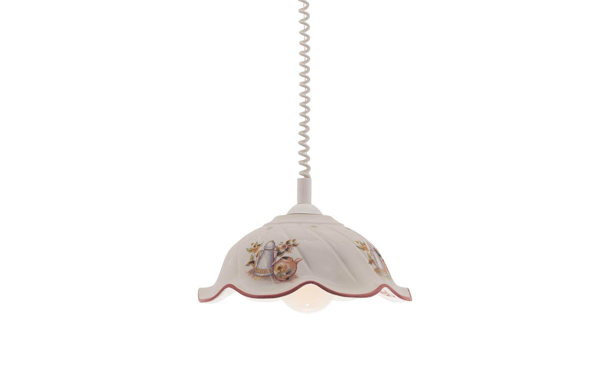 Pendelleuchte mit verziertem Keramikschirm ¦ mehrfarbigØ: 38 Lampen & Leuchten > Innenleuchten > Pendelleuchten - Höffner