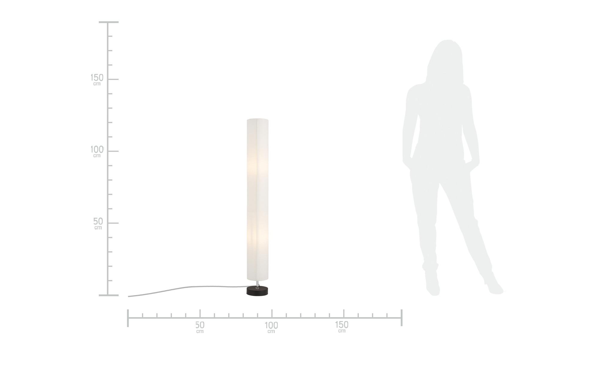 HOME STORY Stehleuchte mit weißem Papierschirm ¦ weiß ¦ Maße (cm): H: 123 Ø: 15 Lampen & Leuchten > Innenleuchten > Stehlampen - Höffner