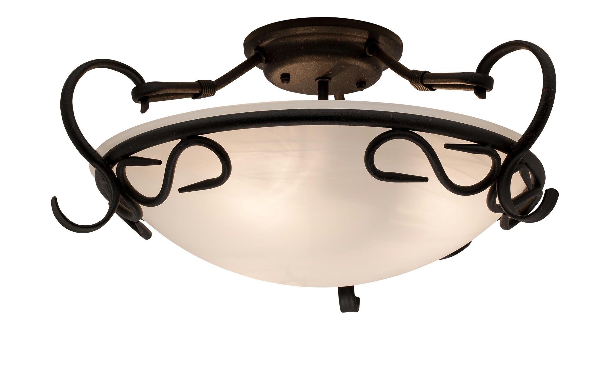 KHG Deckenleuchte im Antik-Design ¦ braun ¦ Maße (cm): H: 22 Ø: [43.0] Lampen & Leuchten > Innenleuchten > Deckenleuchten - Höffner