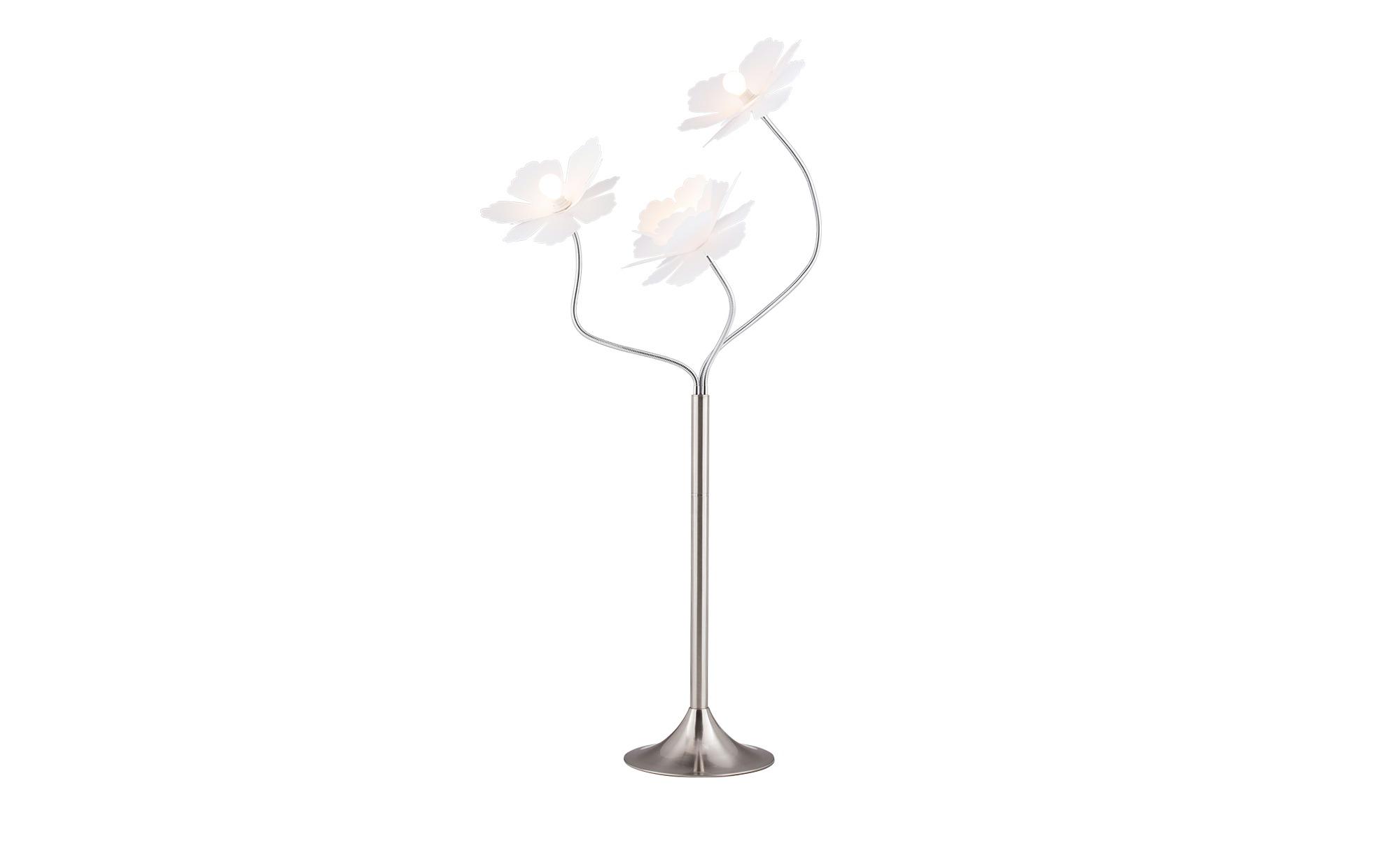 for friends Stehleuchte mit 3 weißen Blüten-Schirmen ¦ silber ¦ Maße (cm): H: 160 Ø: 40 Lampen & Leuchten > Innenleuchten > Stehlampen - Höffner