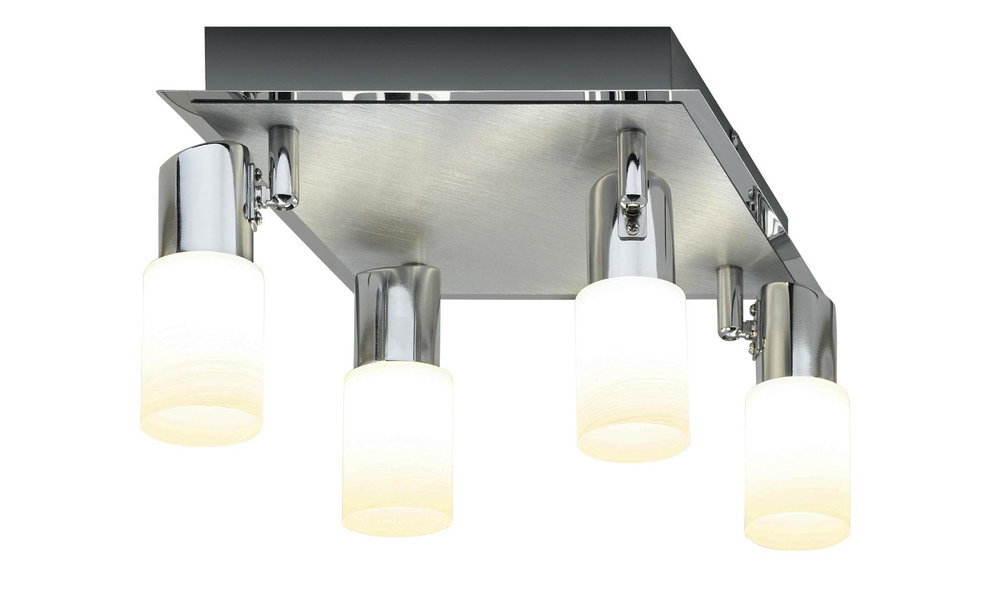 Trio LED-Deckenstrahler quadratisch 4-flammig ¦ silber ¦ Maße (cm): B: 23 H: 23 Lampen & Leuchten > LED-Leuchten > LED-Strahler & Spots - Höffner
