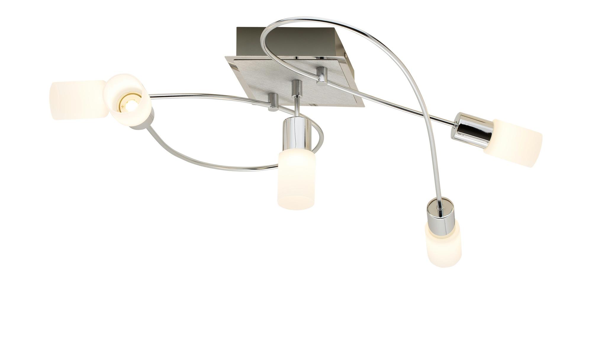 Trio LED Deckenleuchte Metallarme gebogen ¦ silber ¦ Maße (cm): B: 23 H: 70 Lampen & Leuchten > Innenleuchten > Deckenleuchten - Höffner
