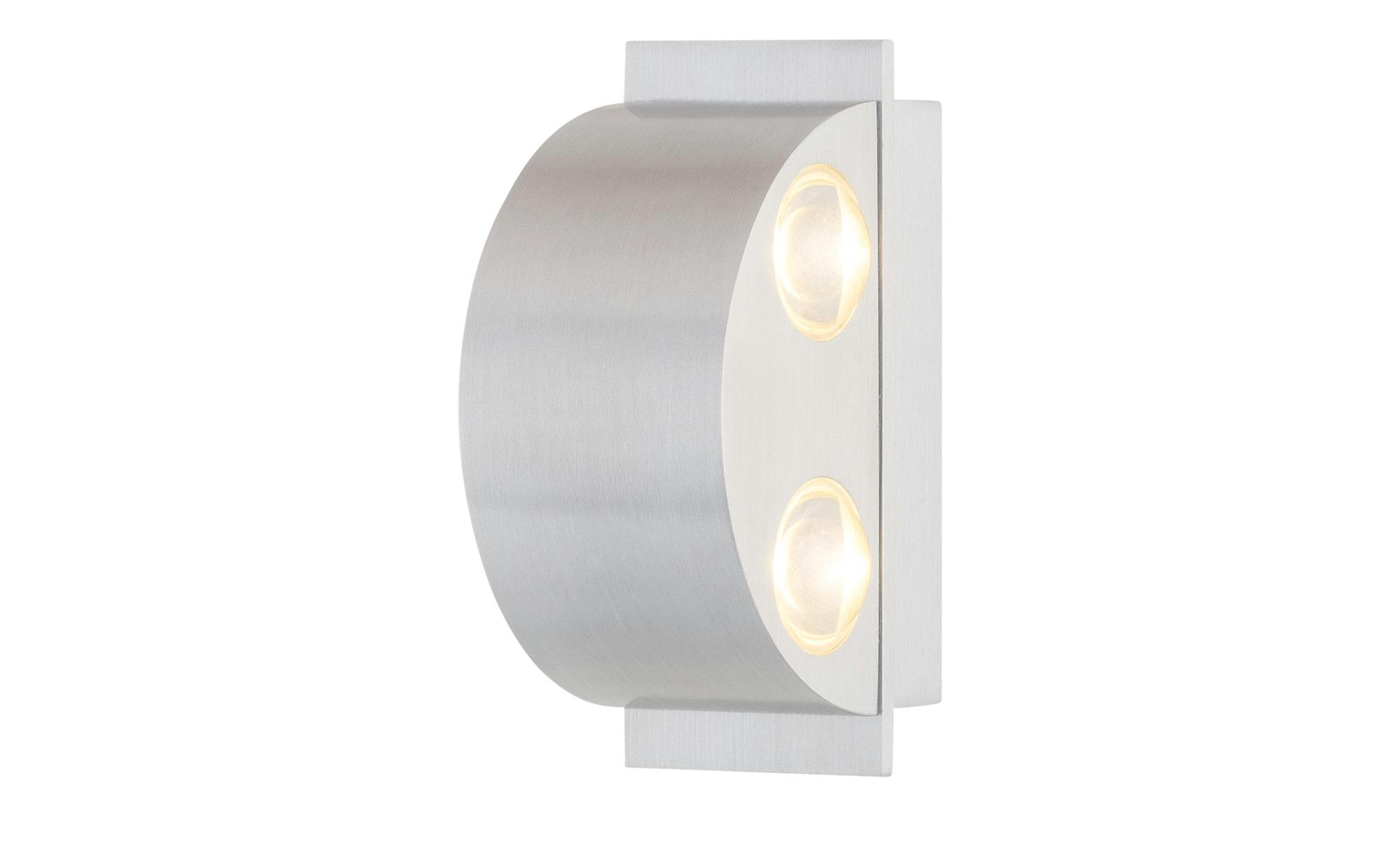 LED-Wandleuchte Aluminium halbrund ¦ silber ¦ Maße (cm): B: 12 H: 5 Lampen & Leuchten > Innenleuchten > Wandleuchten - Höffner