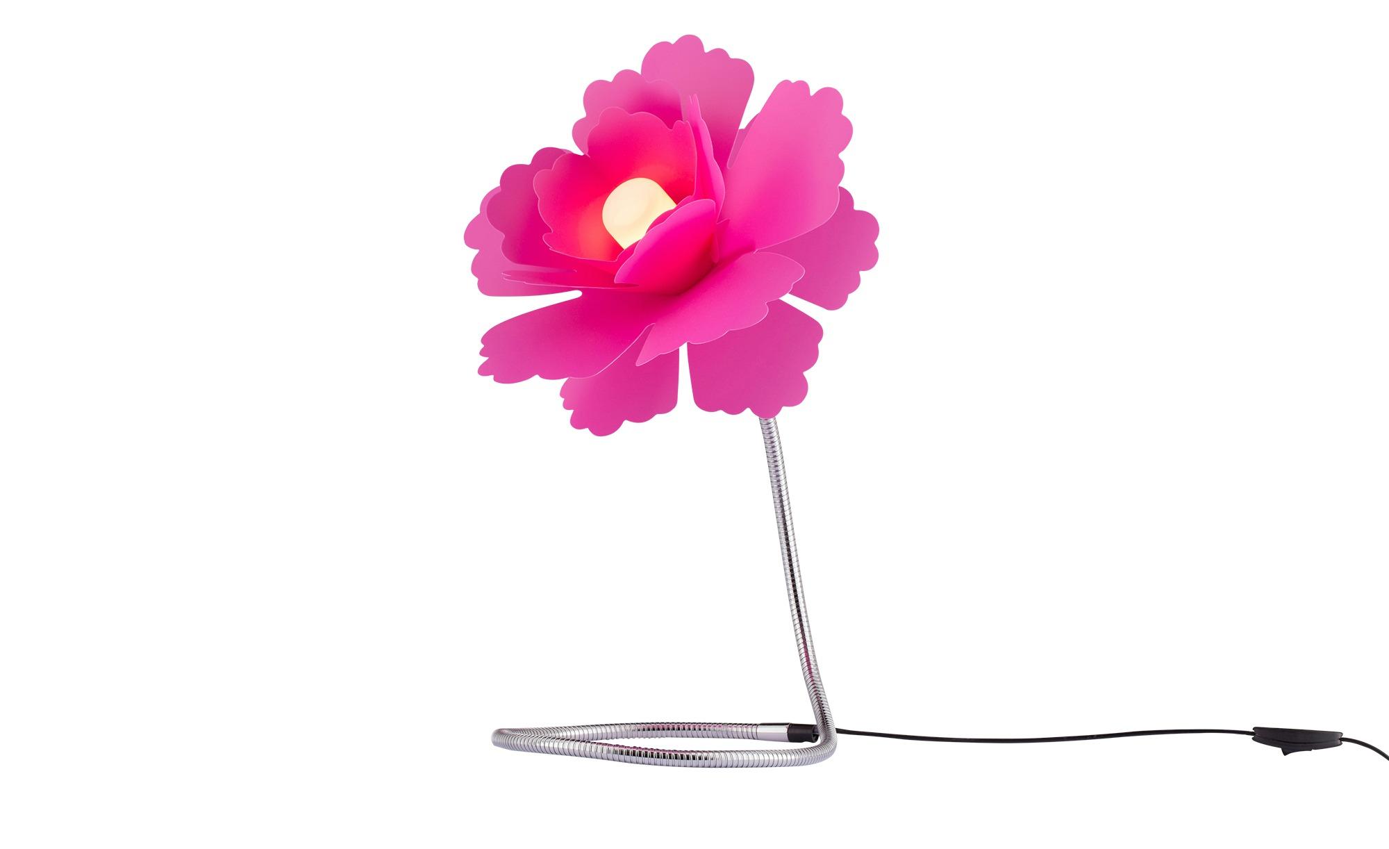 for friends Tischleuchte Flexarm und lila Blumen-Schirm ¦ rosa/pink ¦ Maße (cm): H: 51 Ø: 29 Lampen & Leuchten > Innenleuchten > Tischlampen - Höffner