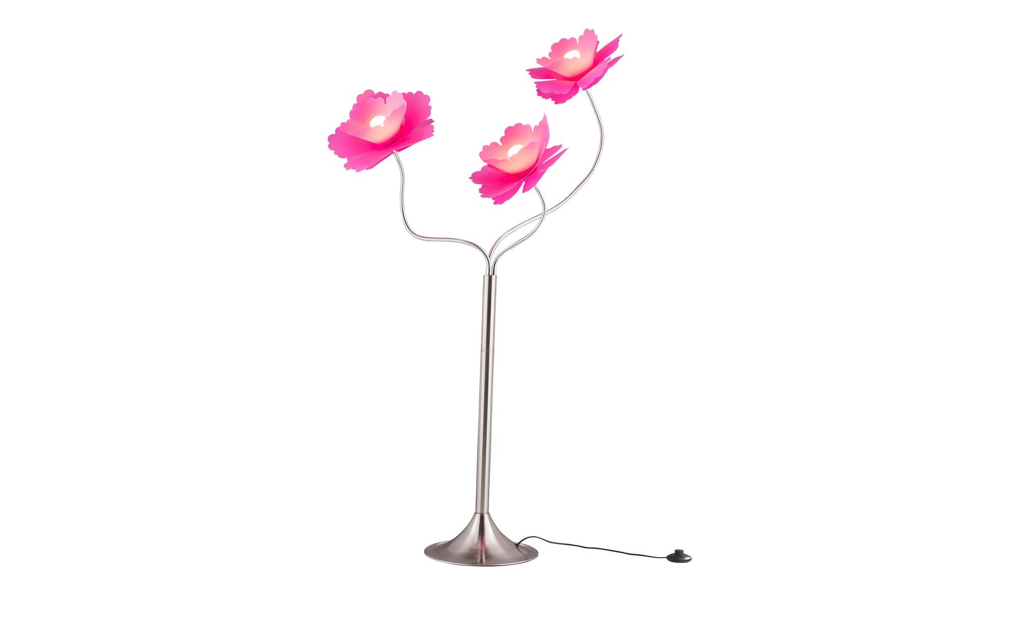 for friends Stehleuchte mit 3 violetten Blüten-Schirmen ¦ rosa/pink ¦ Maße (cm): H: 160 Ø: 30 Lampen & Leuchten > Innenleuchten > Stehlampen - Höffner