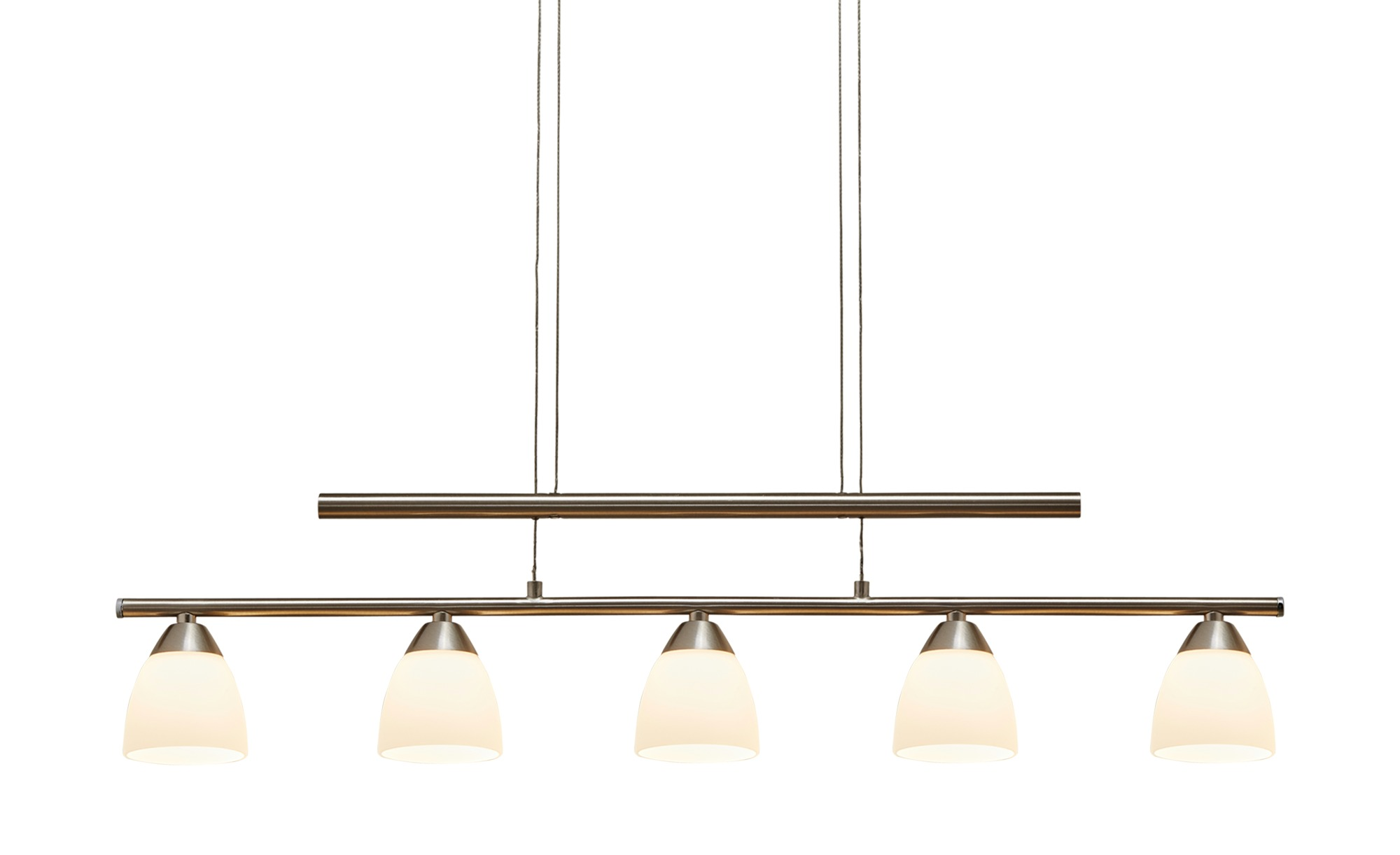 Paul Neuhaus LED- Pendelleuchte, 5-flammig, nickel matt, höhenverstellbar ¦ silber ¦ Maße (cm): B: 75 H: 149 Lampen & Leuchten > LED-Leuchten > LED-Pendelleuchten - Höffner